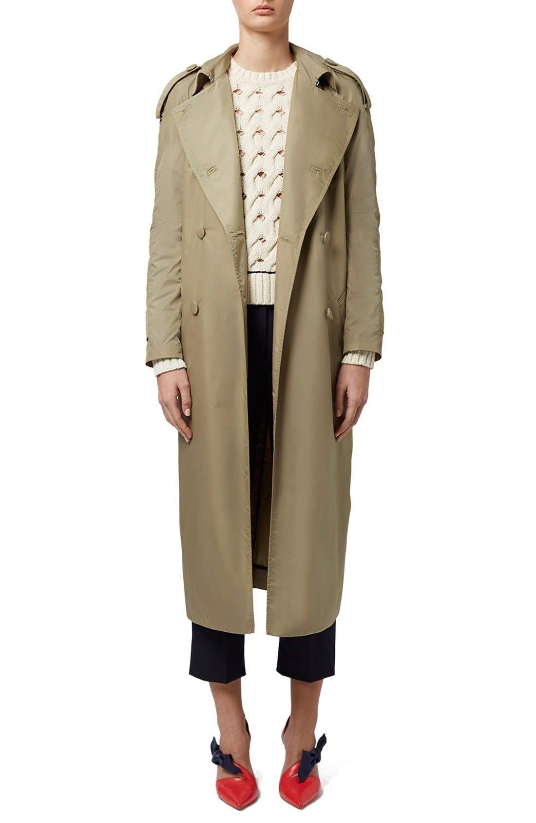 Alternate Image 3  - Topshop Unique 'Great Smith' Double Breasted Trench Coat