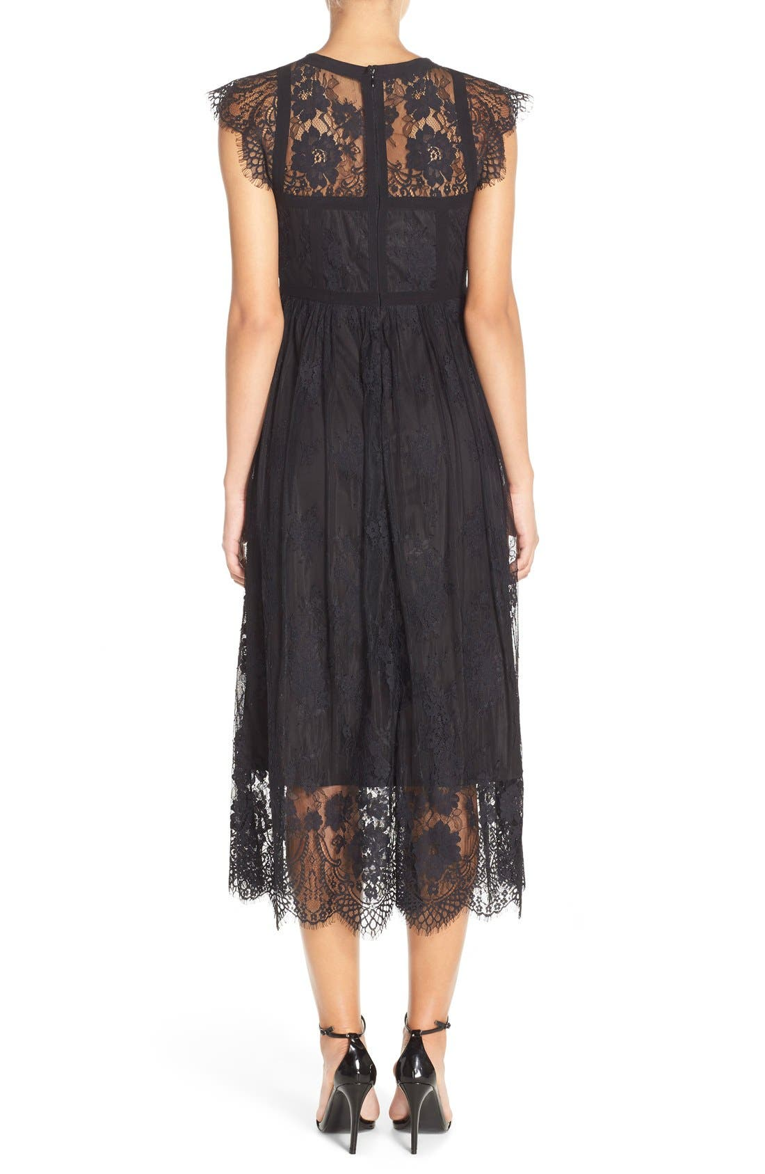 Alternate Image 2  - Parker 'Tesoro' Lace Fit & Flare Midi Dress