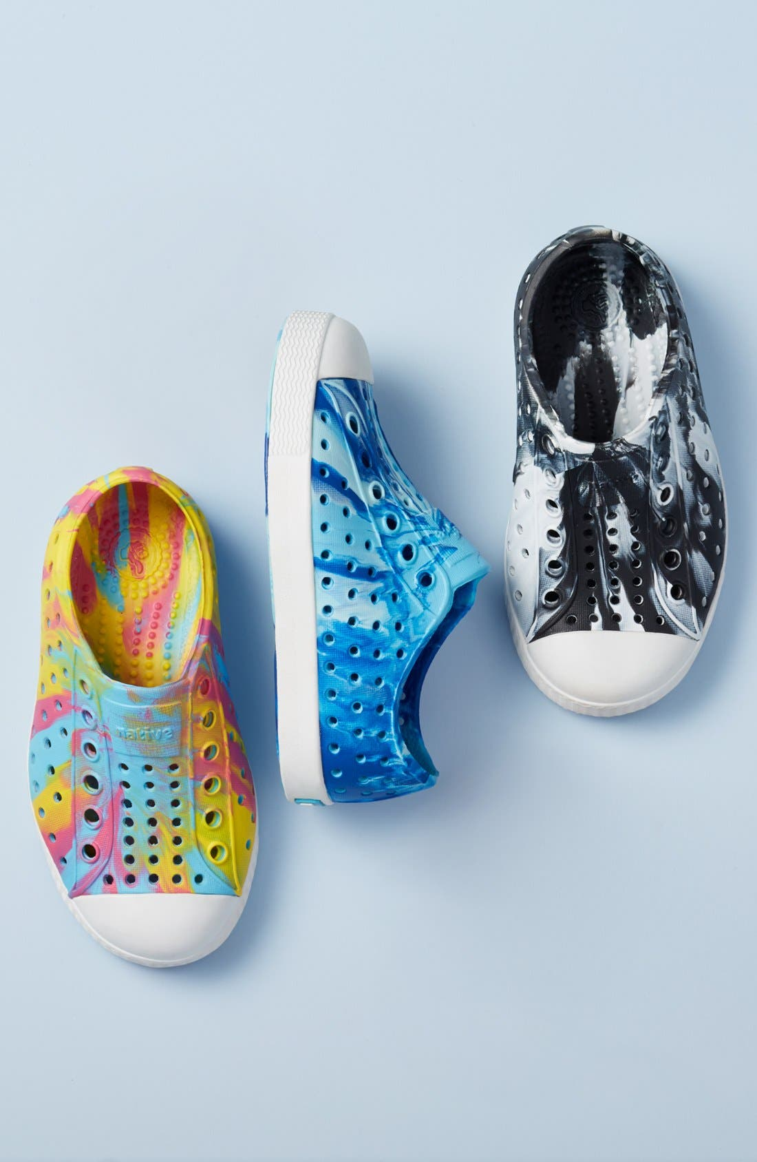 Alternate Image 8  - Native Shoes Jefferson - Marbled Perforated Slip-On (Walker, Toddler & Little Kid)