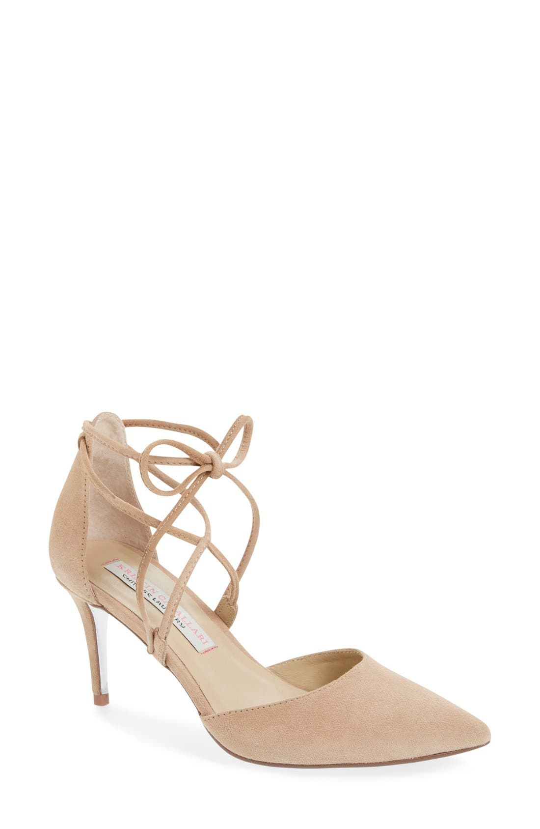 Kristin Cavallari 'Opel' Lace-Up Pointy Toe Pump (Women)