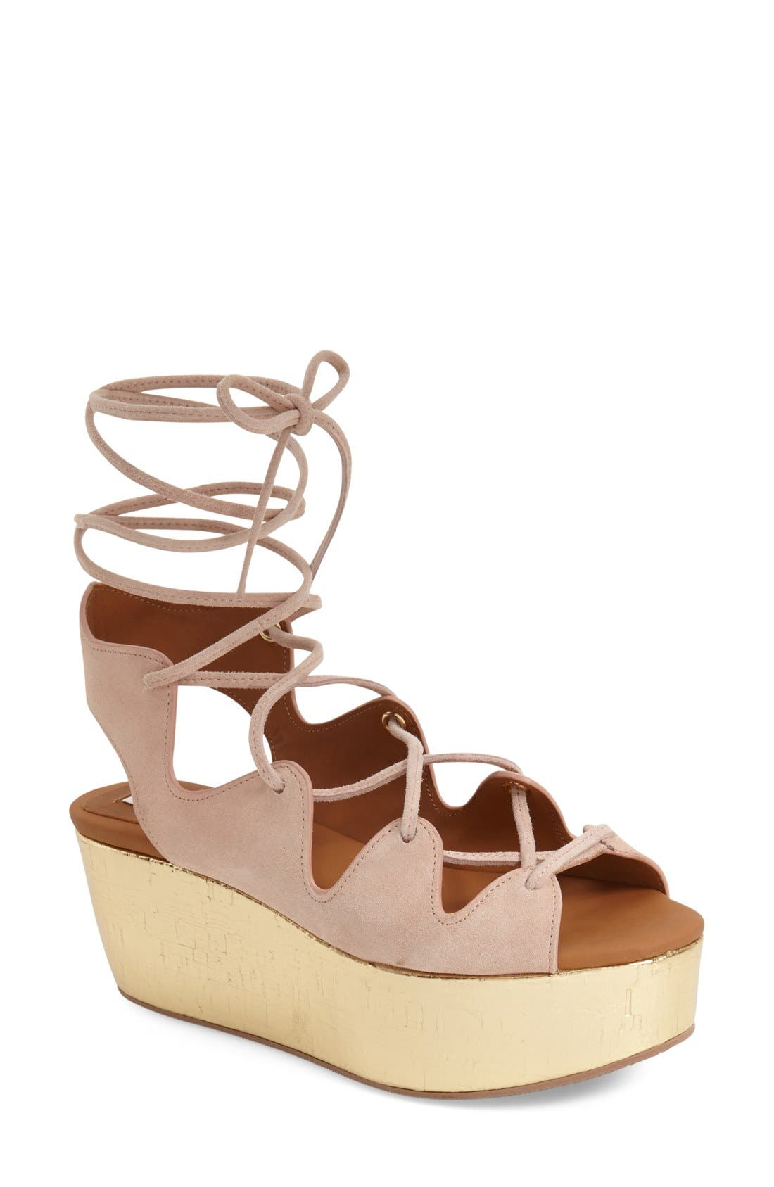 Alternate Image 1 Selected - See by Chloé 'Liana' Platform Wedge Sandal (Women)