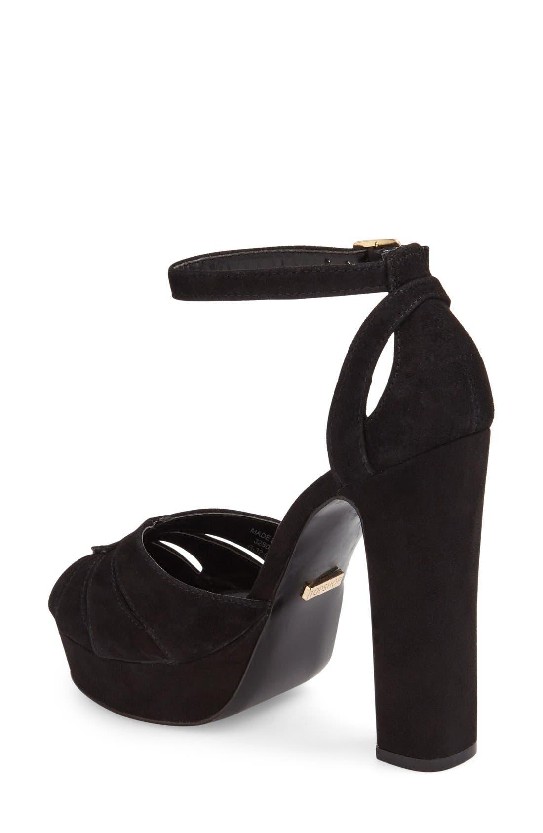 Alternate Image 2  - Topshop 'Sienna' Platform Peep Toe Sandal (Women)