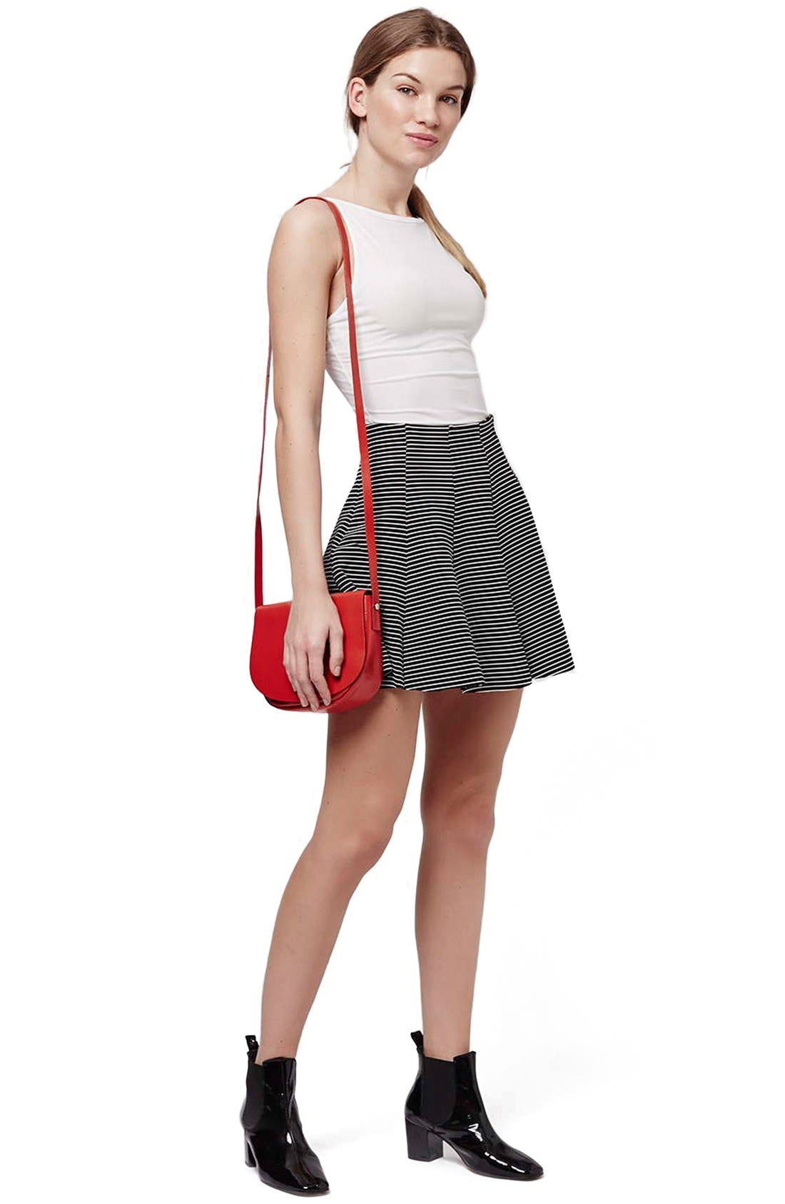 Alternate Image 2  - Topshop Stripe Flippy Skirt (Petite)