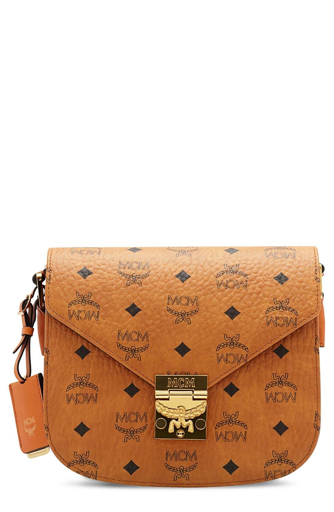 Main Image - MCM 'Small Patricia' Visetos Coated Canvas Crossbody Bag