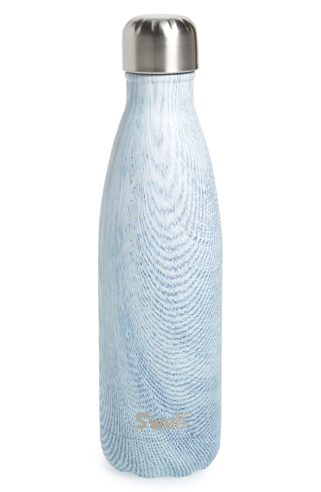 Alternate Image 1 Selected - S'well 'Textile Collection - Blue Jean' Stainless Steel Water Bottle