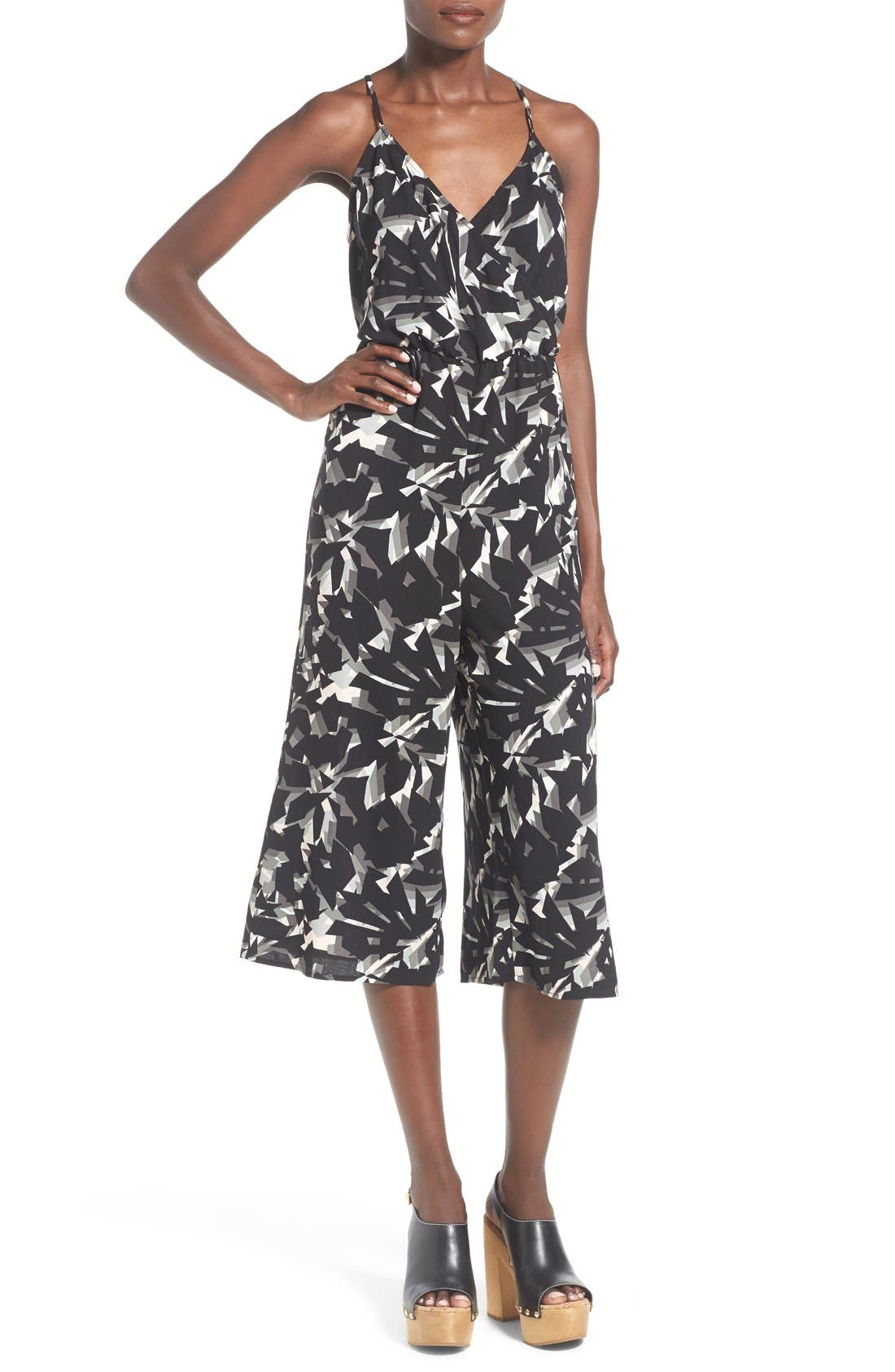 Alternate Image 1 Selected - Leith Wrap Front Culotte Jumpsuit