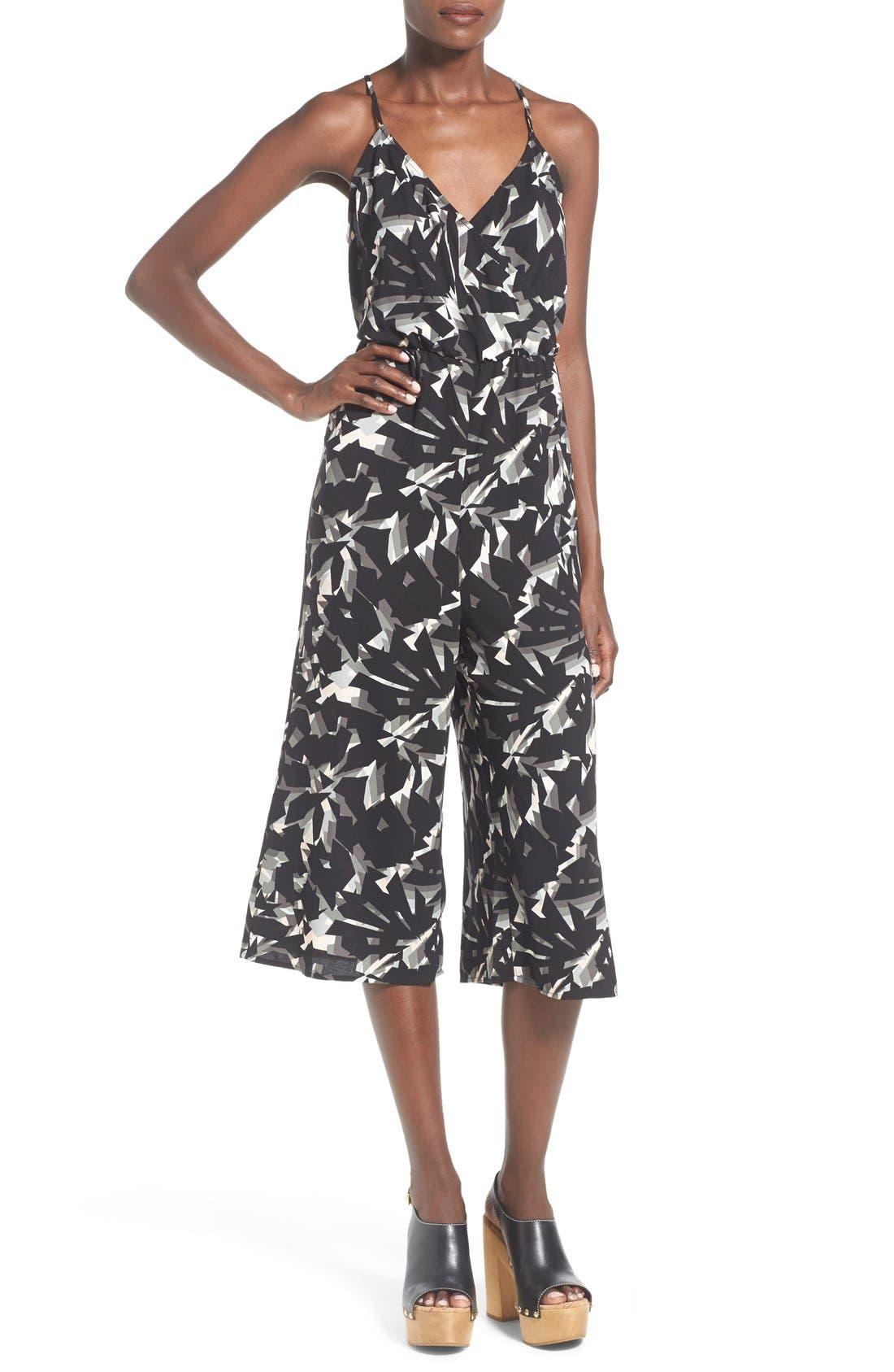 Main Image - Leith Wrap Front Culotte Jumpsuit