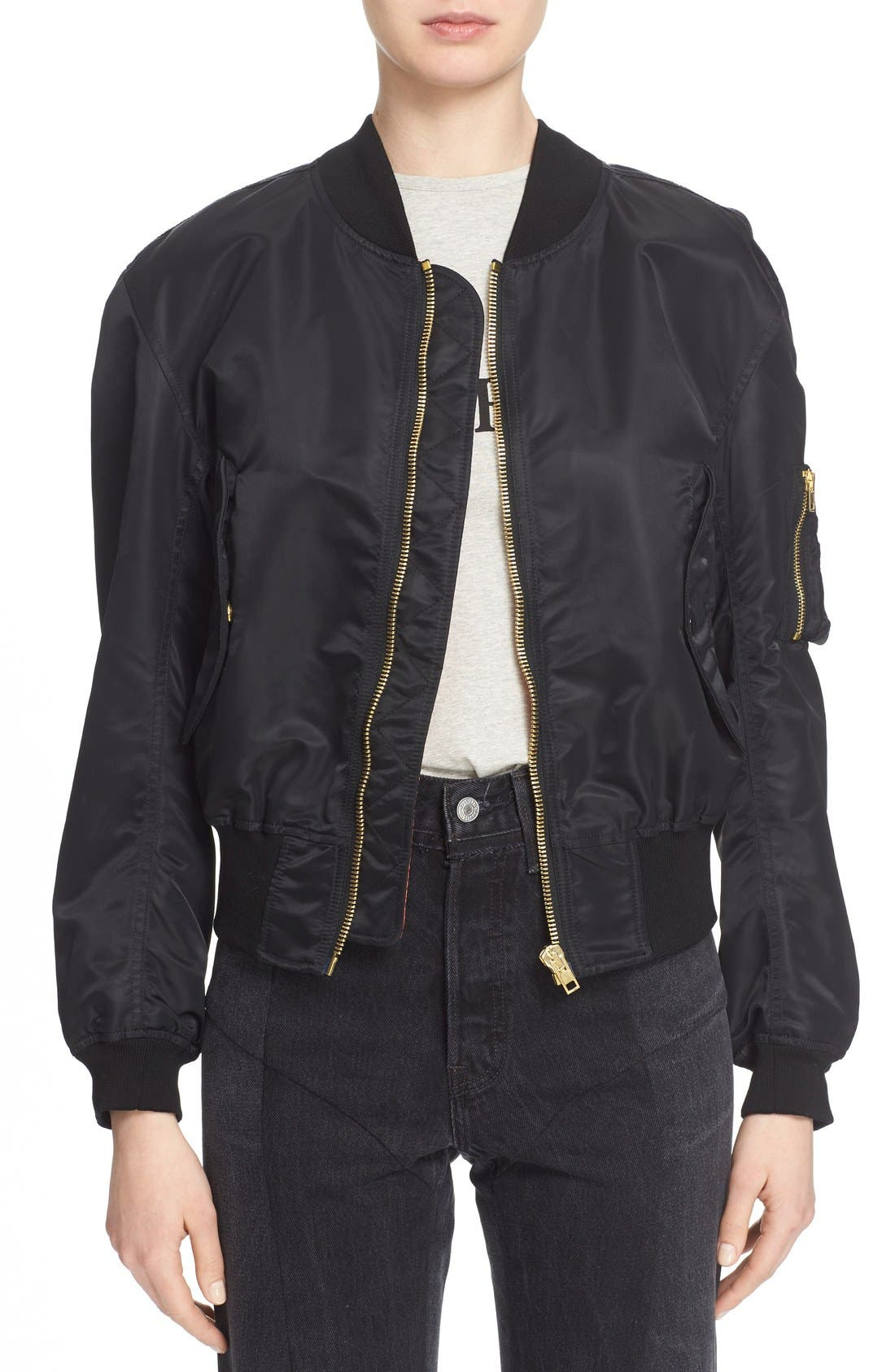 Main Image - Vetements Nylon Bomber Jacket