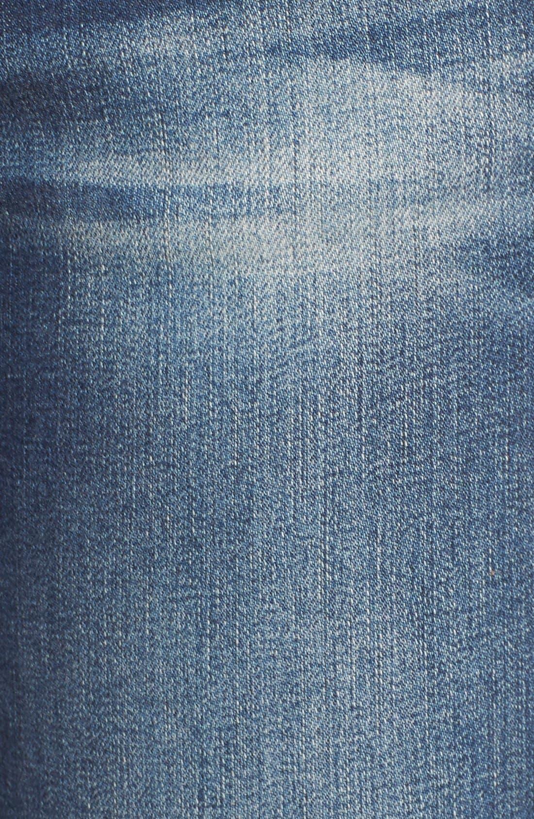 Alternate Image 5  - SP Black Distressed Raw Hem Skinny Jeans