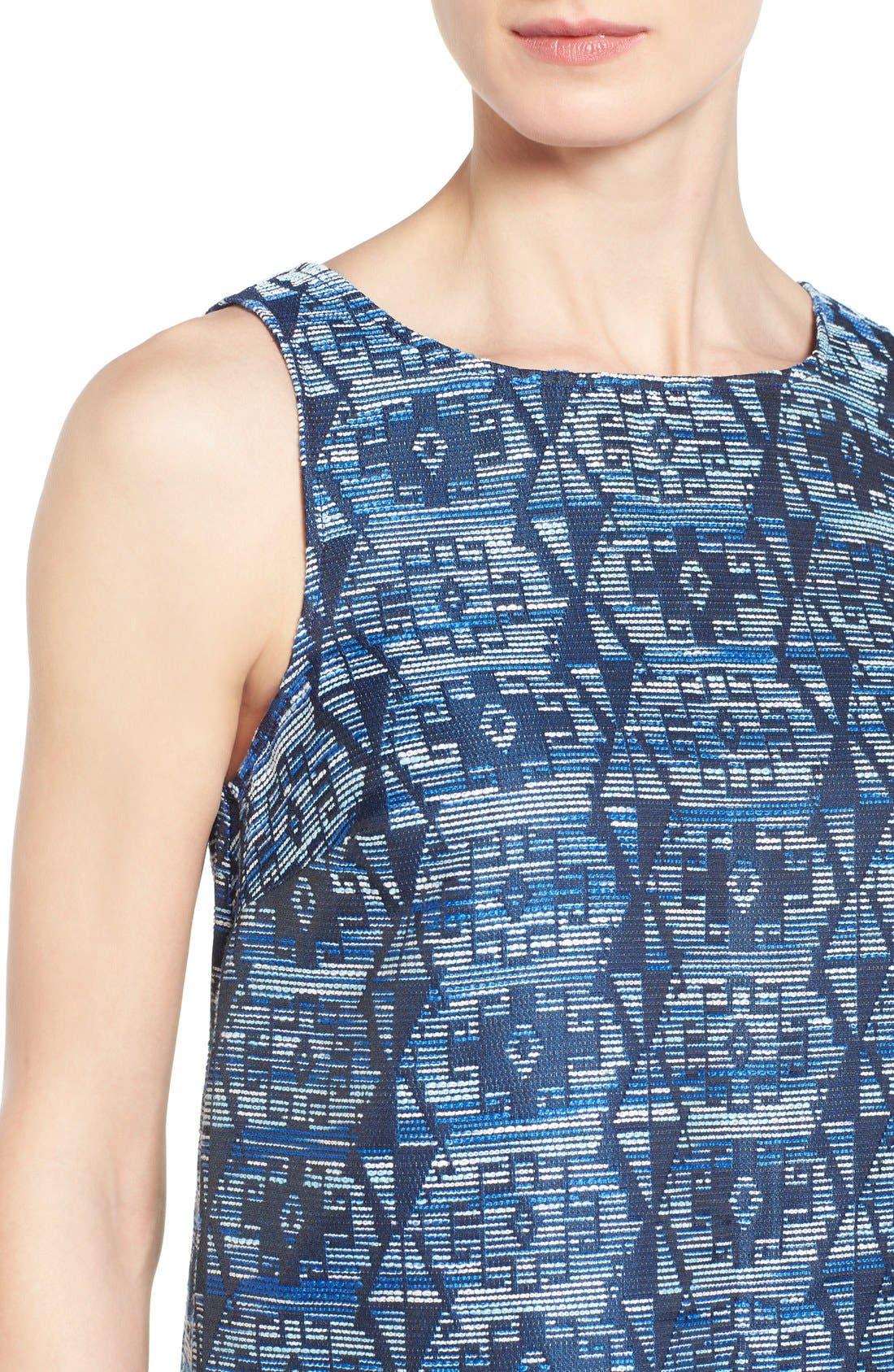 Alternate Image 4  - kensie Aztec Brocade Shift Dress