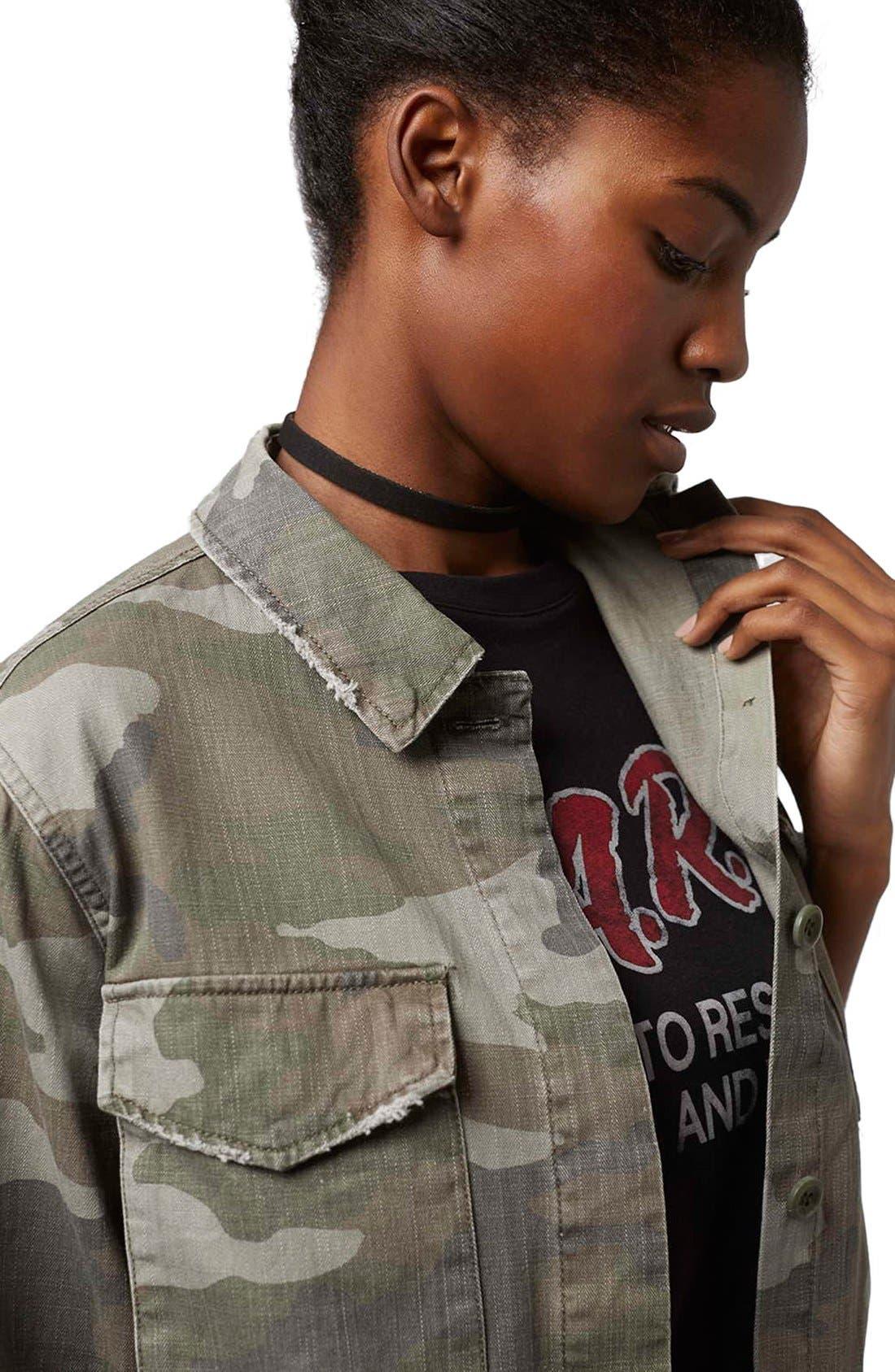 Alternate Image 6  - Topshop 'Sandy' Camo Print Shirt Jacket (Regular & Petite)