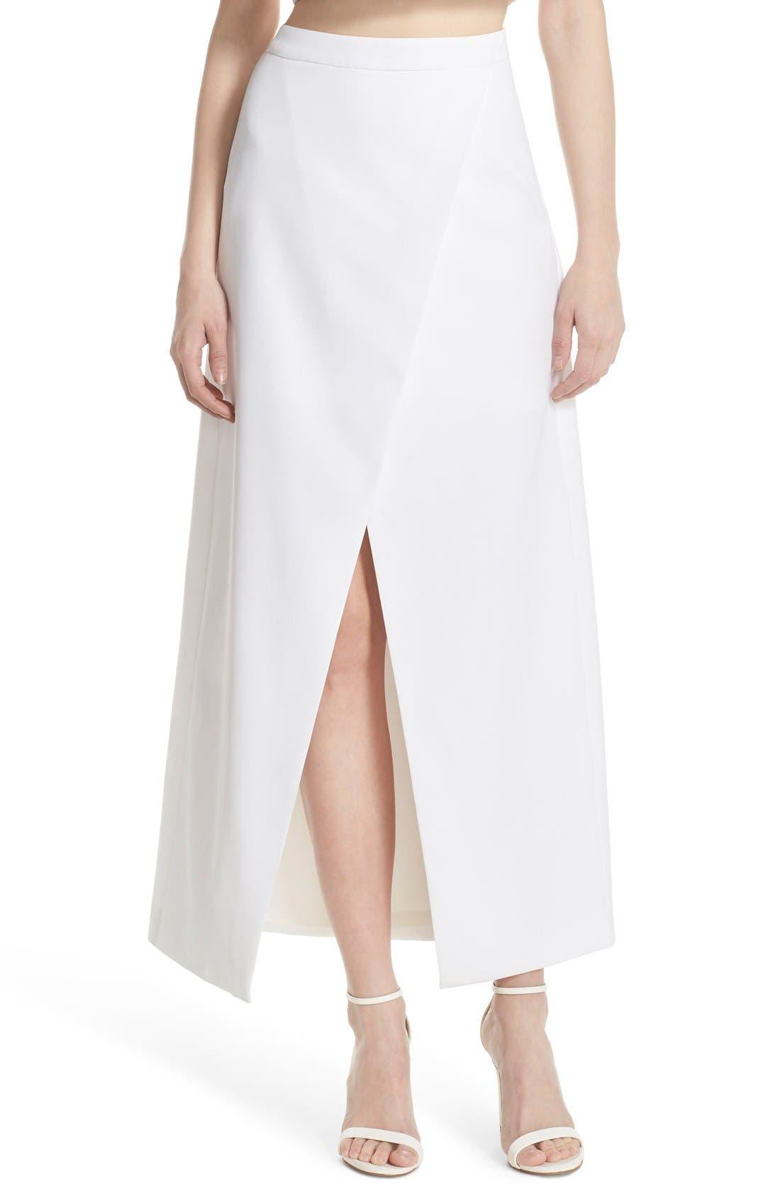 Alternate Image 1 Selected - Elliatt 'Statue' Split Front Maxi Skirt