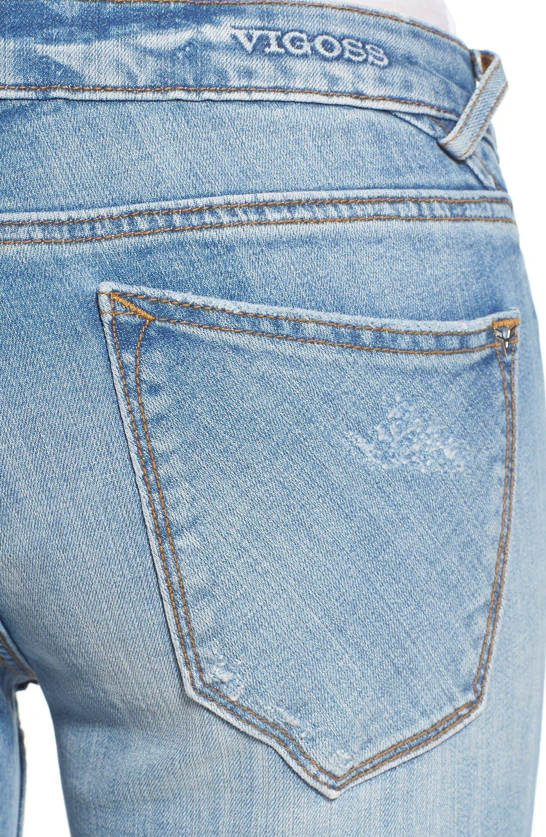 Alternate Image 4  - Vigoss 'Tomboy 'Thompson' Distressed Boyfriend Jeans