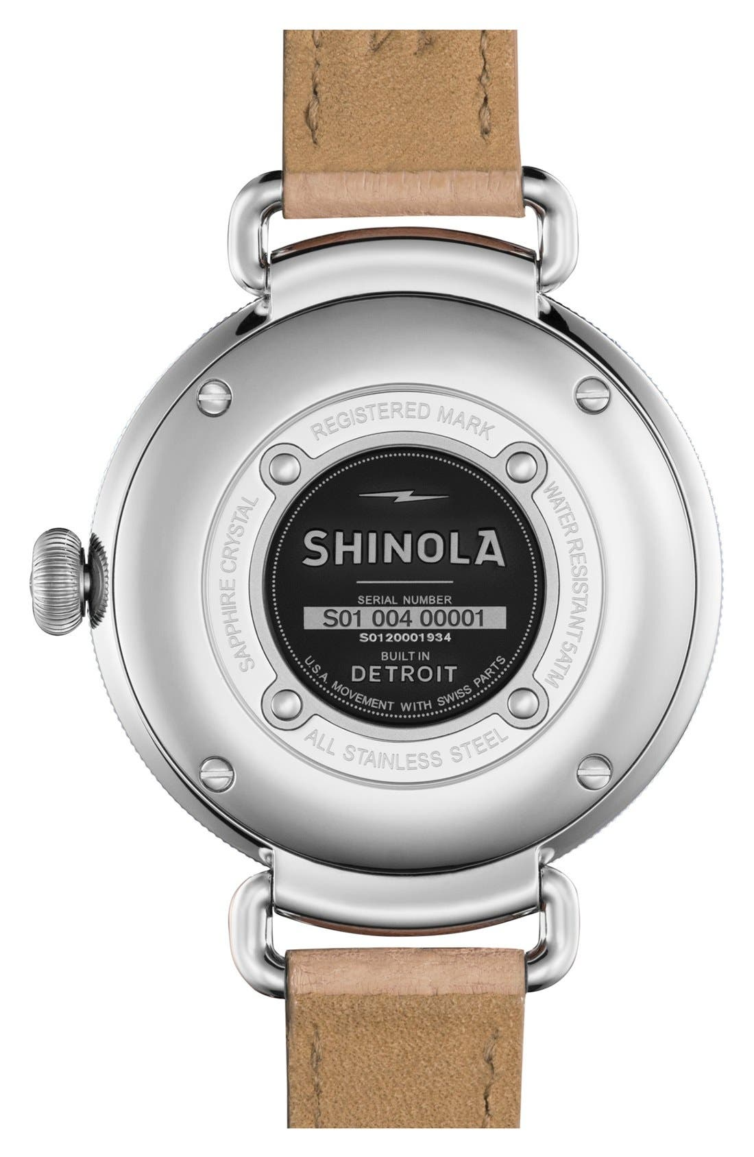 Alternate Image 2  - Shinola The Canfield Alligator Strap Watch, 38mm
