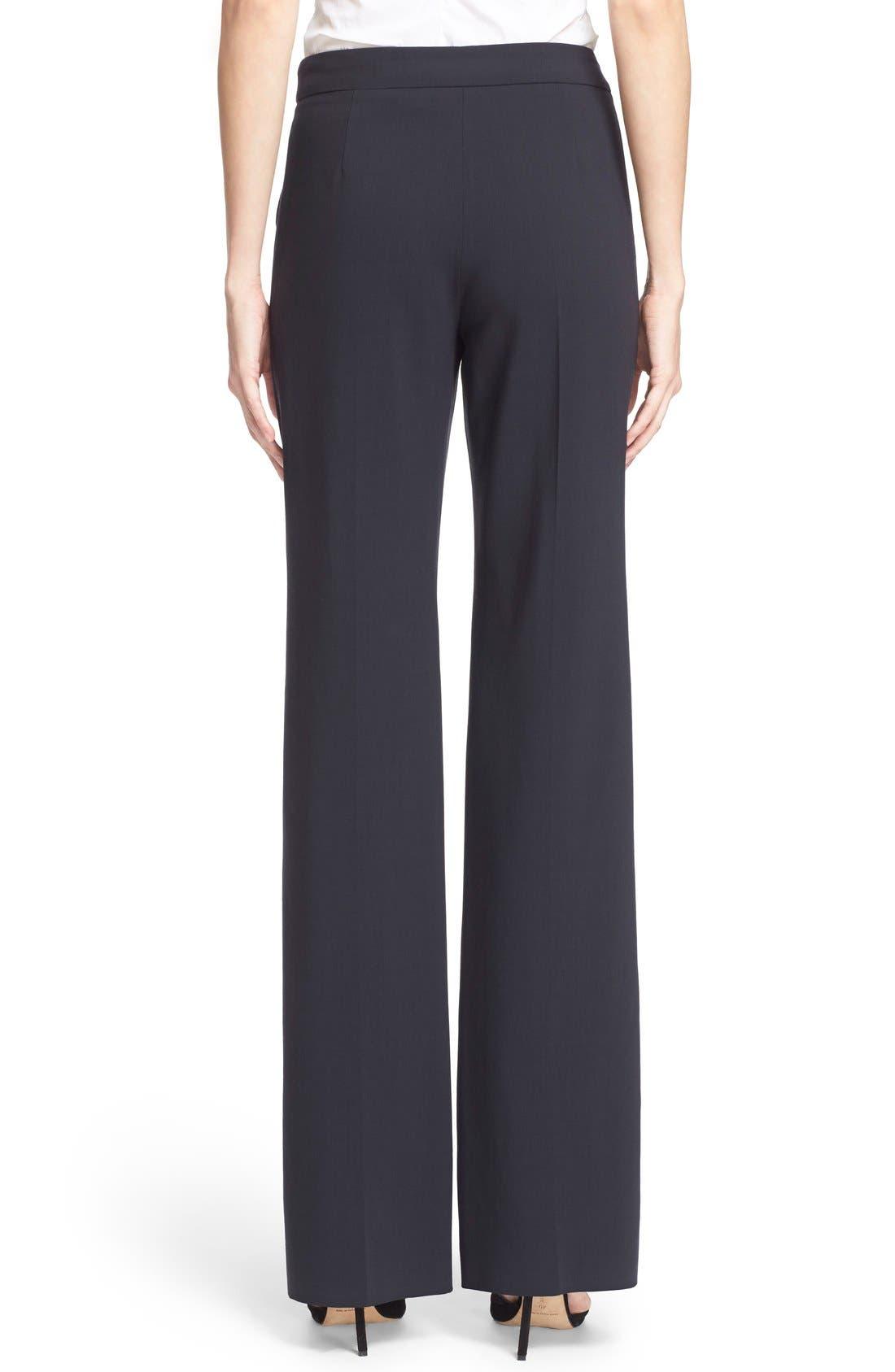 Alternate Image 2  - Armani Collezioni Straight Leg Featherweight Wool Pants