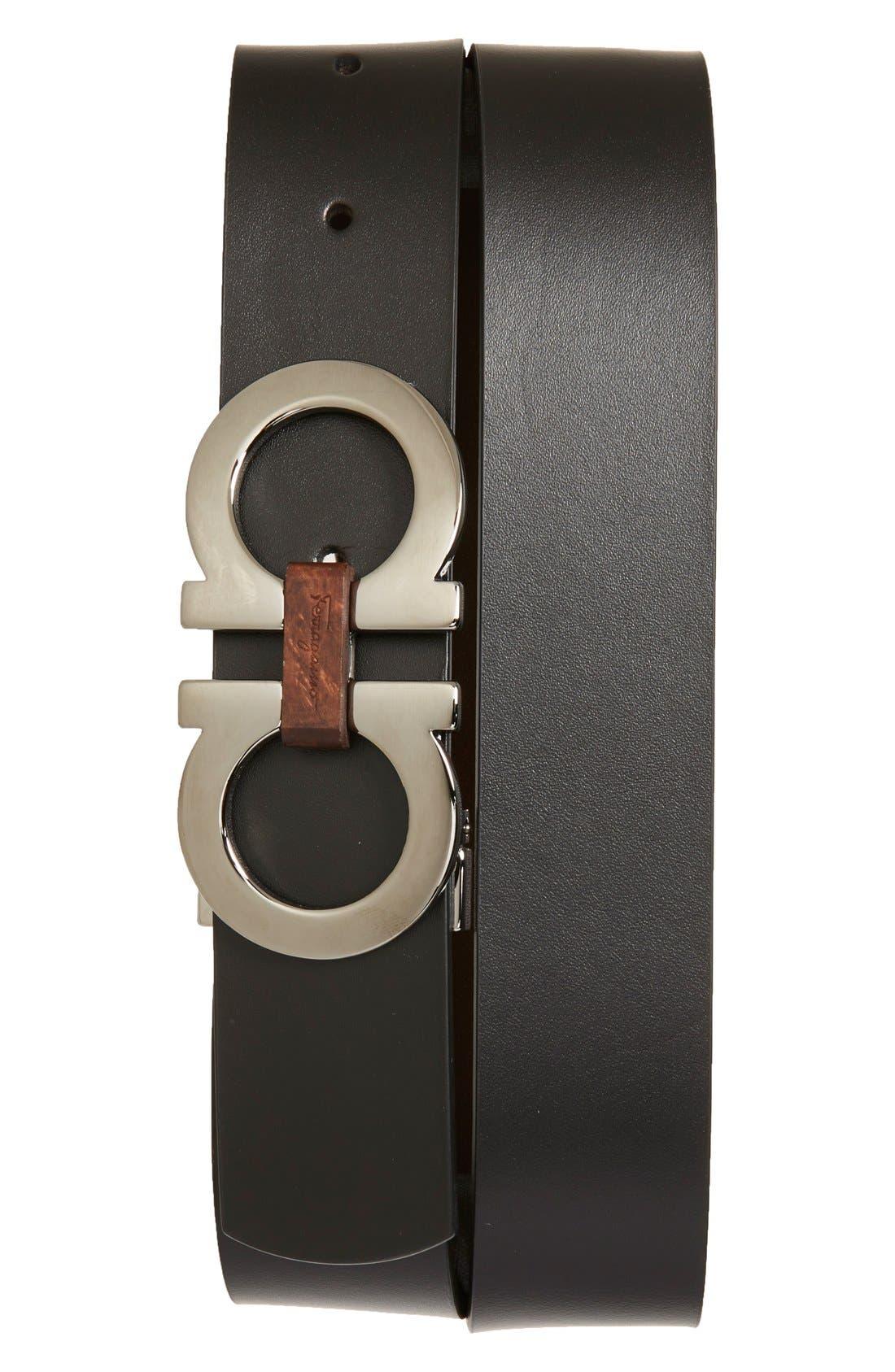 Alternate Image 1 Selected - Salvatore Ferragamo Reversible Leather Belt
