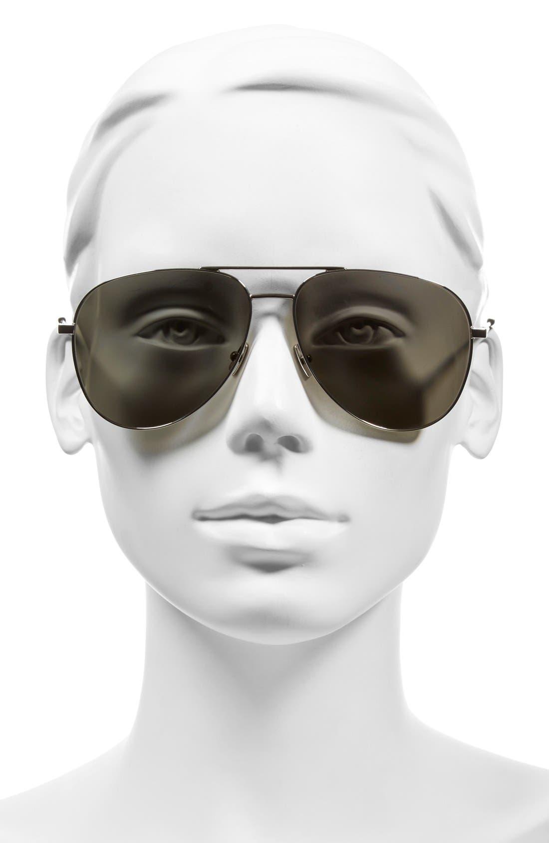 Alternate Image 2  - Saint Laurent 'Classic' 59mm Aviator Sunglasses