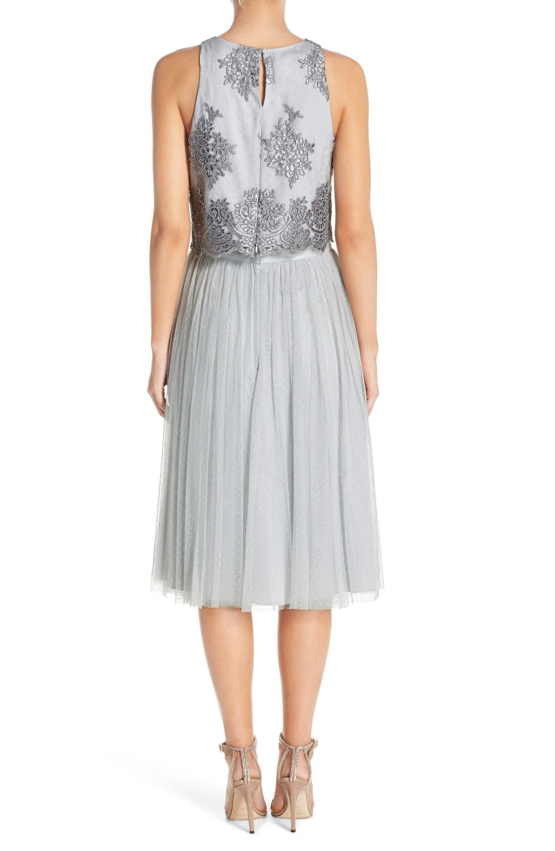 Alternate Image 2  - Donna Morgan 'Beatrix' Lace & Dotted Tulle Two-Piece Dress