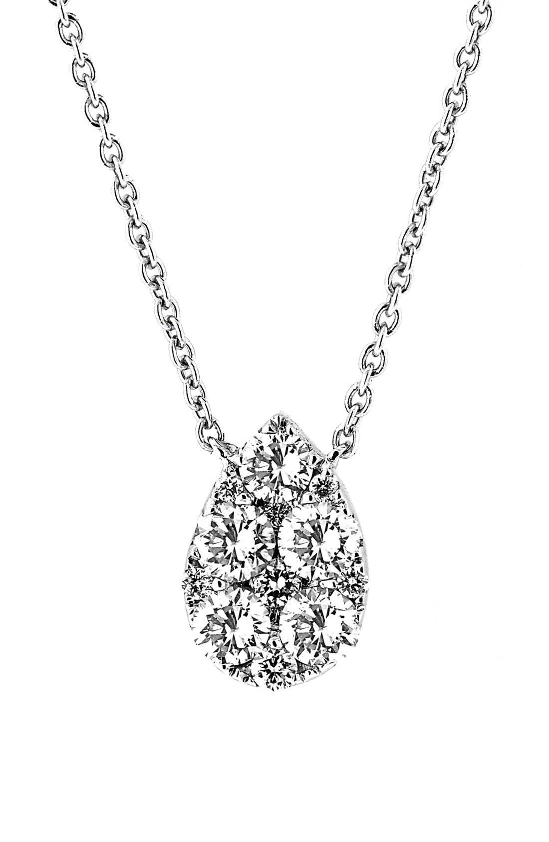BONY LEVY Teardrop Diamond Pendant Necklace