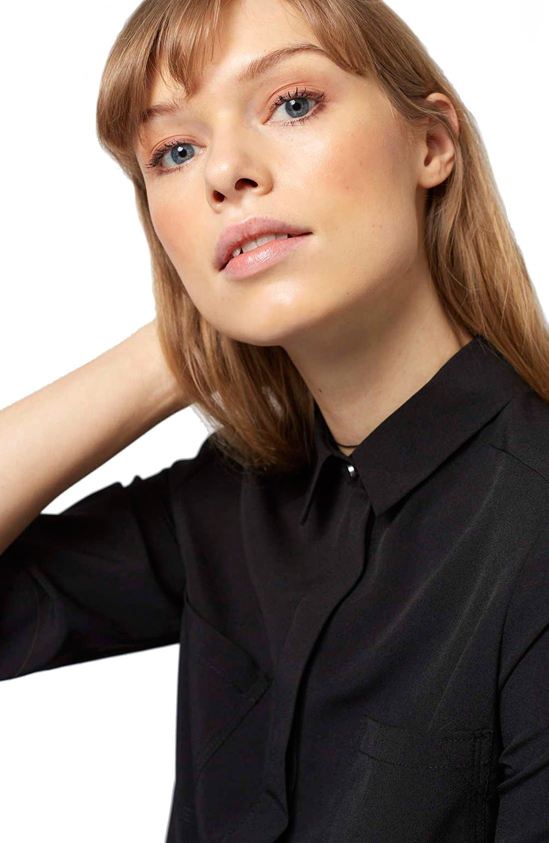 Alternate Image 5  - Topshop 'Sandy Olivia' Button Down Shirt