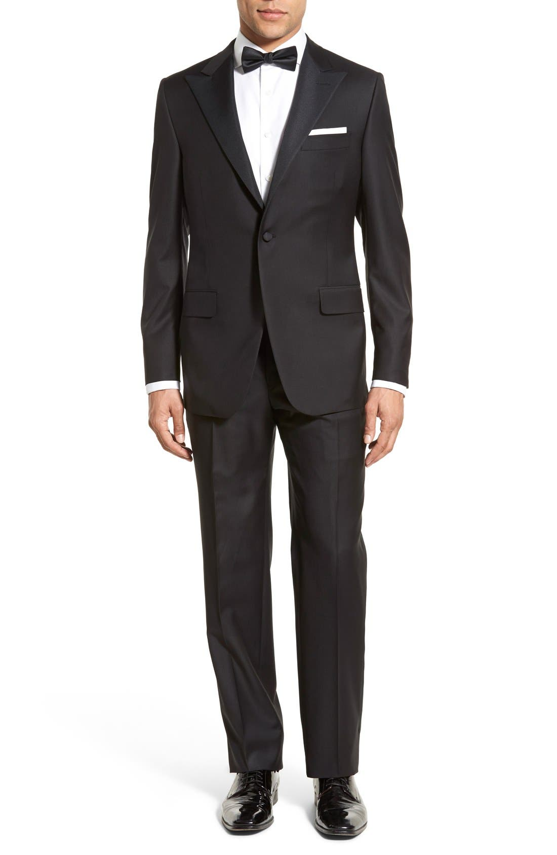 HICKEY FREEMAN Classic Fit Tasmanian Wool Tailcoat Tuxedo