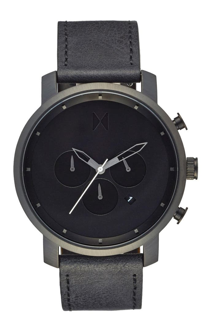 Mvmt chronograph leather strap watch 45mm nordstrom for Wacthes mvmt