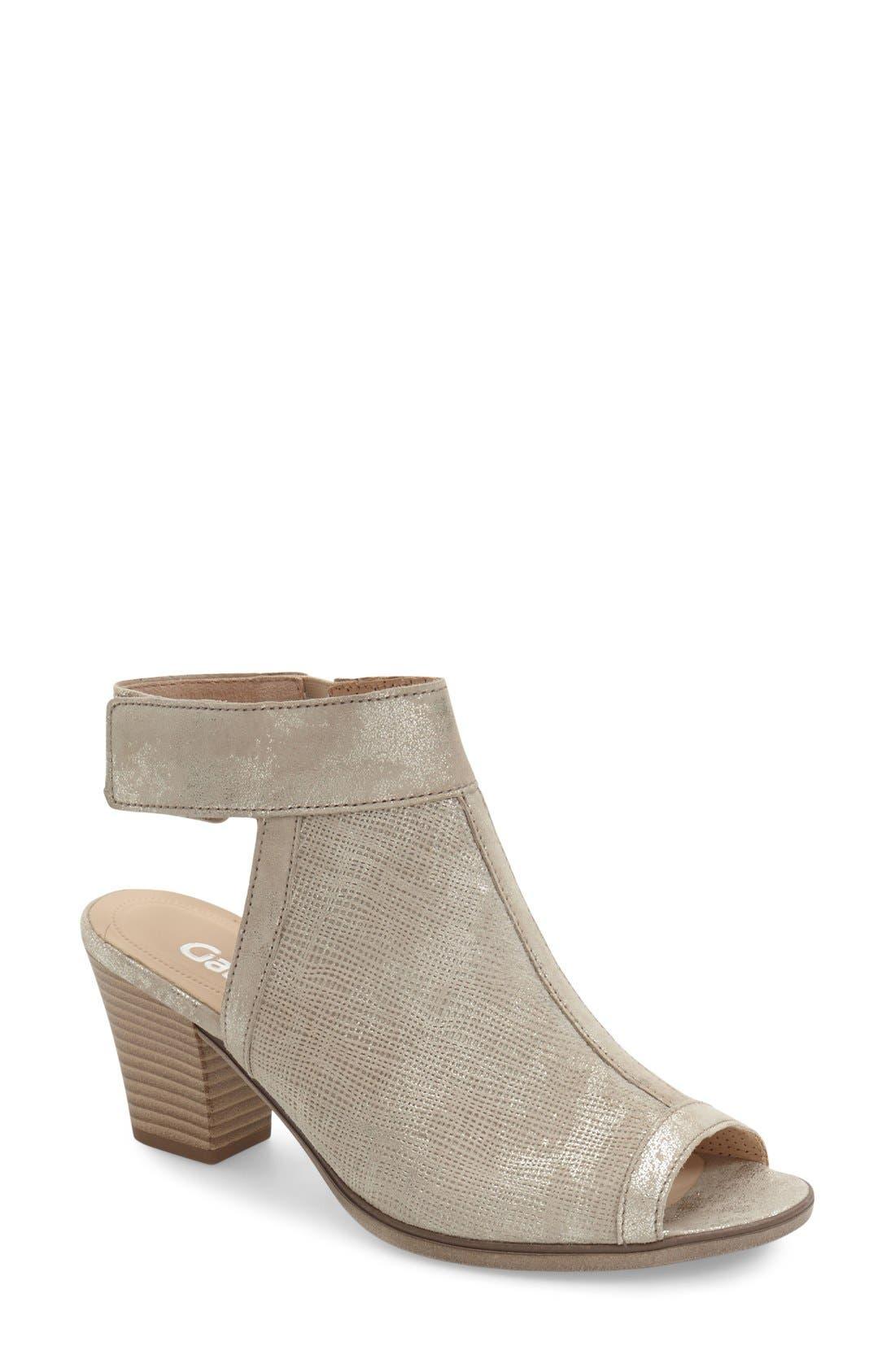 Main Image - Gabor Open Toe Leather Sandal (Women)