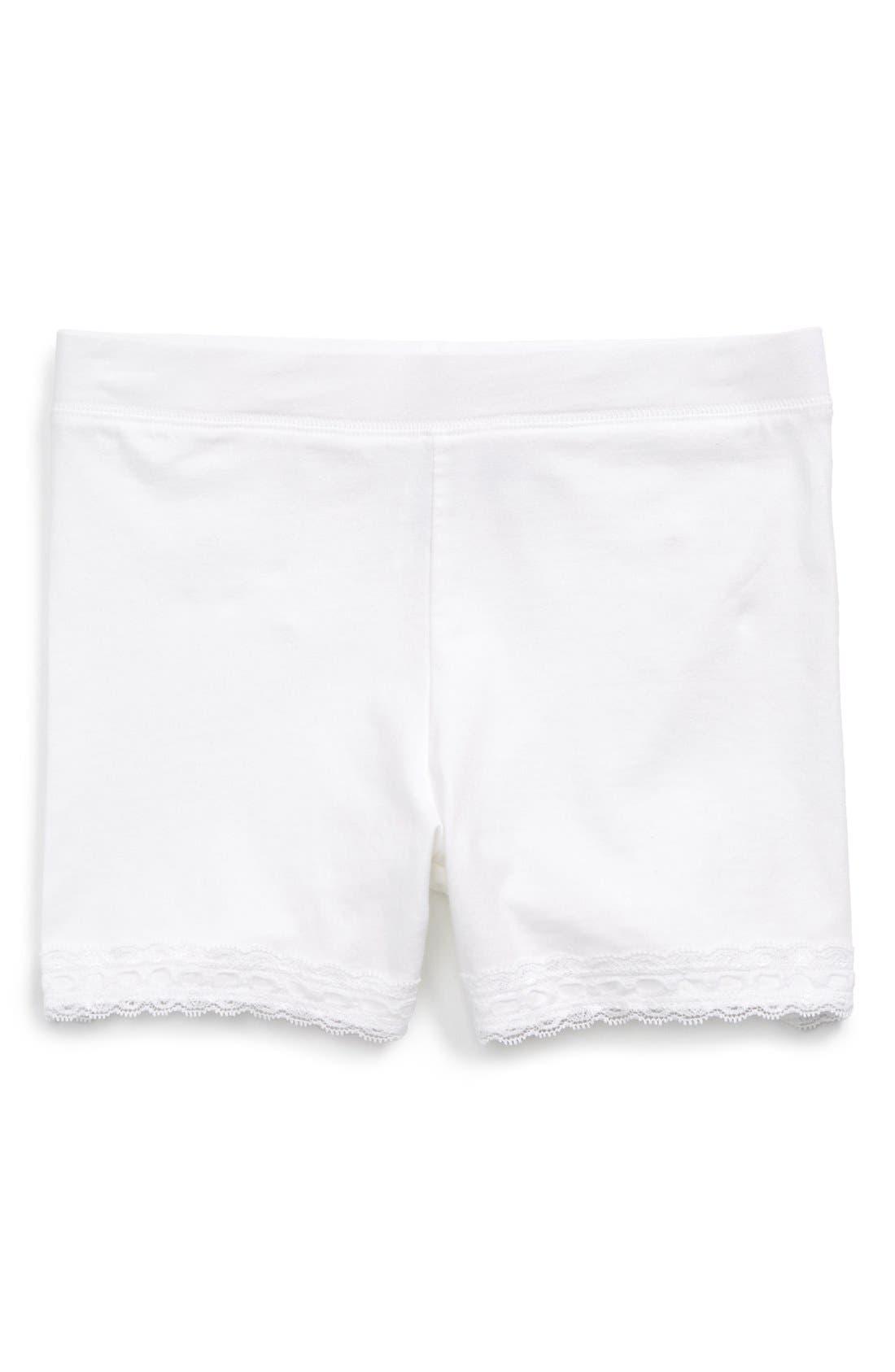 Tucker + Tate Lace Trim Bike Shorts (Little Girls & Big Girls)