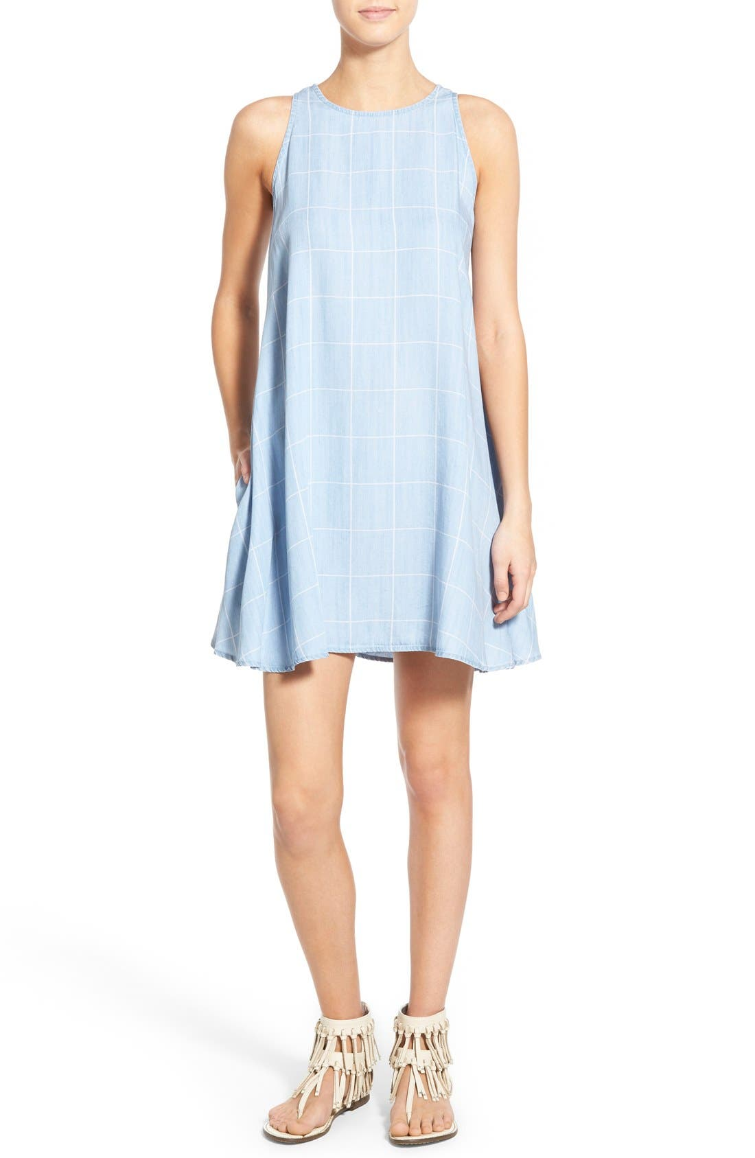 Alternate Image 1 Selected - Rails 'Anya' Check Chambray Shift Dress