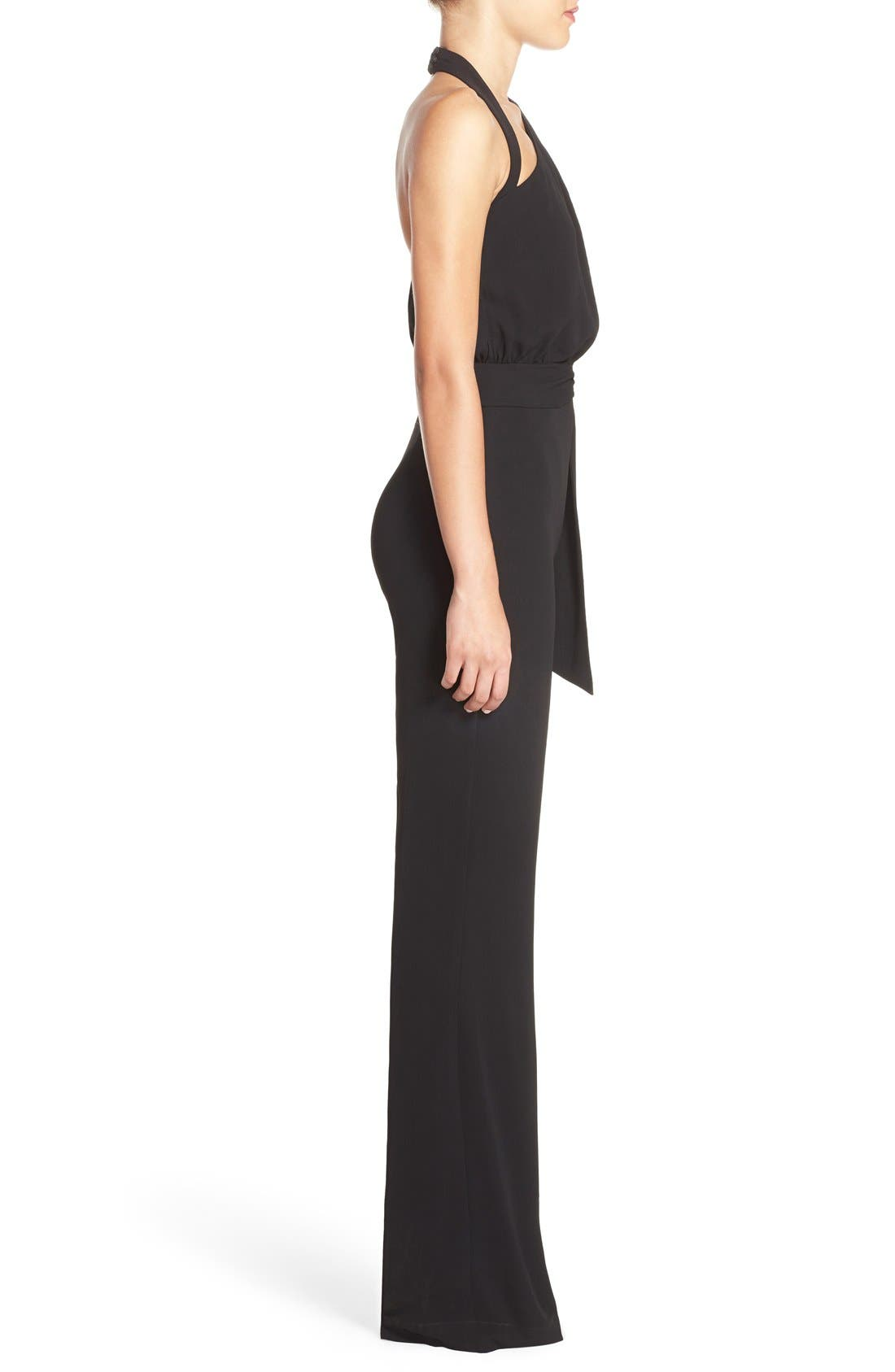 Alternate Image 3  - Misha Collection 'Caprice' Cutout Halter Jumpsuit