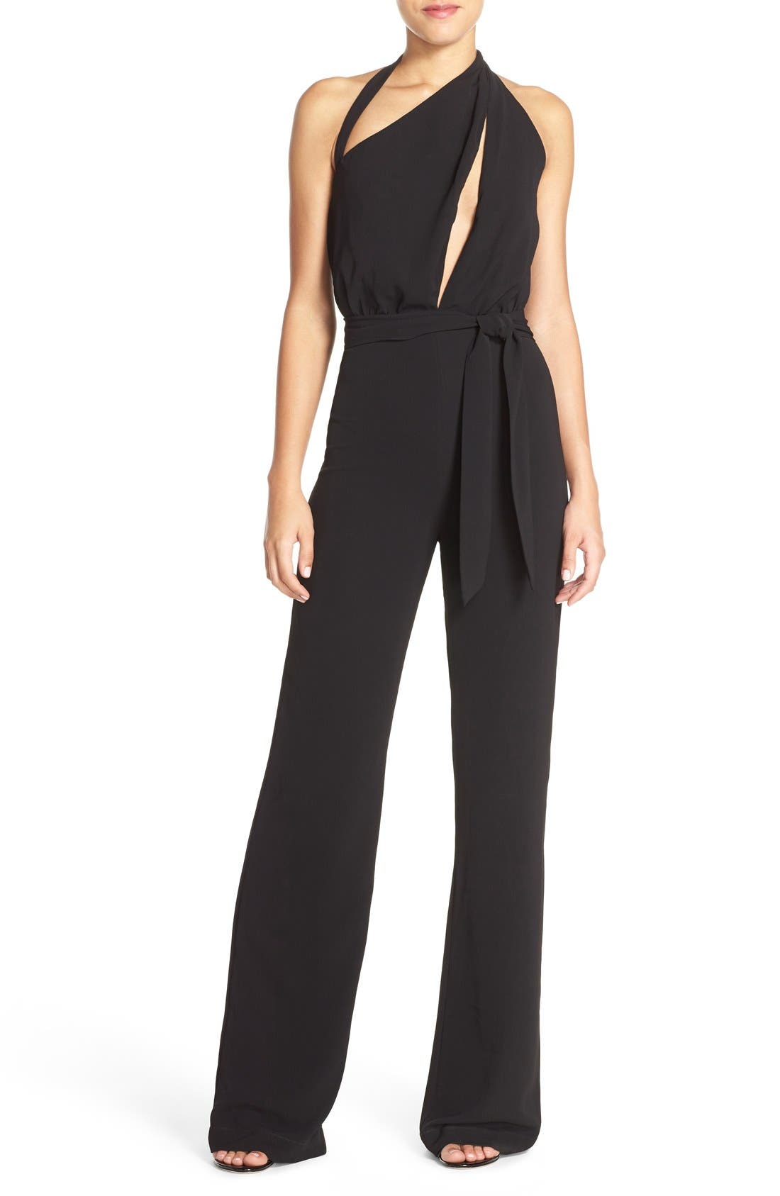 Main Image - Misha Collection 'Caprice' Cutout Halter Jumpsuit