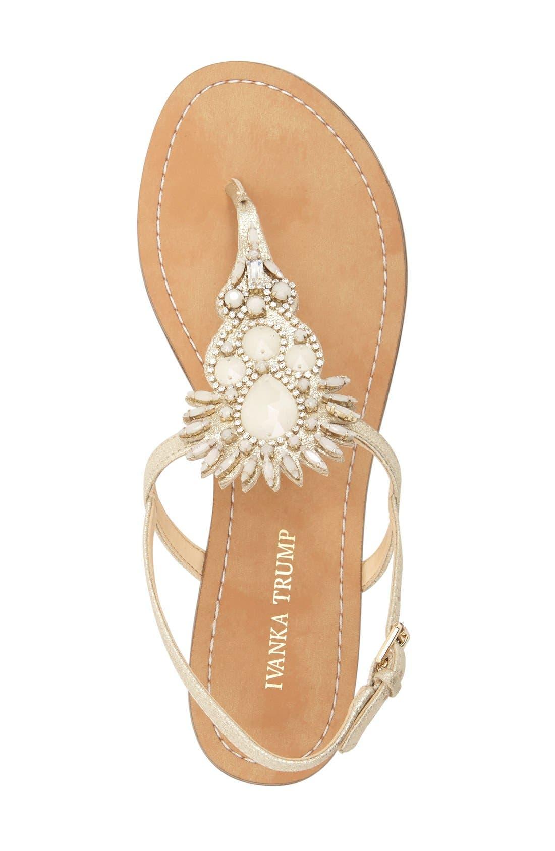 Alternate Image 3  - Ivanka Trump 'Faron' Bead Embellished Flat Sandal (Women)