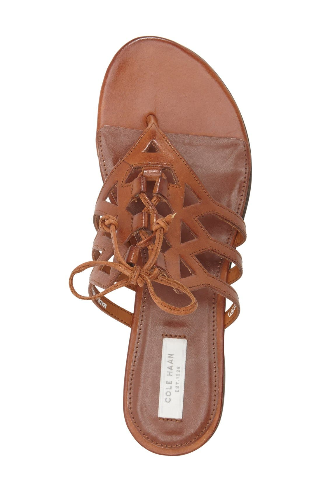 Alternate Image 3  - Cole Haan 'Claudia' Flat Lace-Up Sandal (Women)