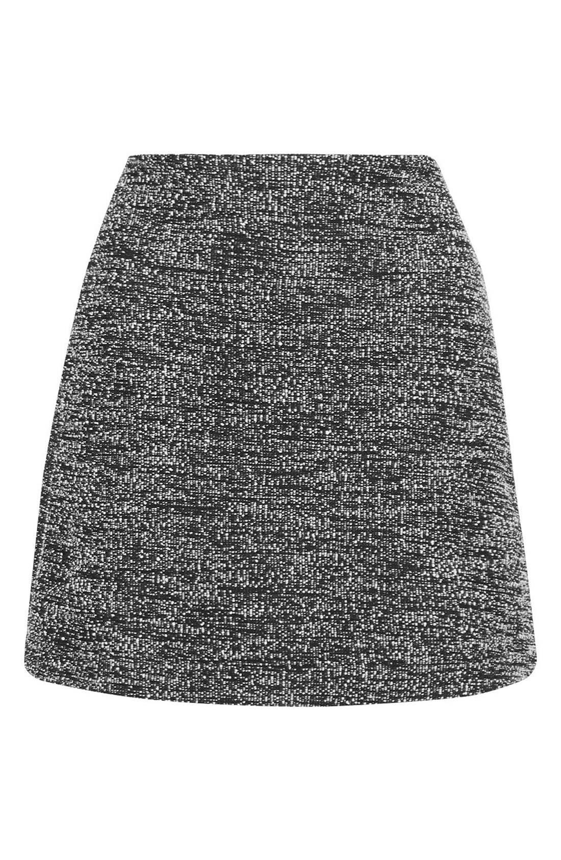 Alternate Image 4  - Topshop A-Line Bouclé Skirt (Petite)