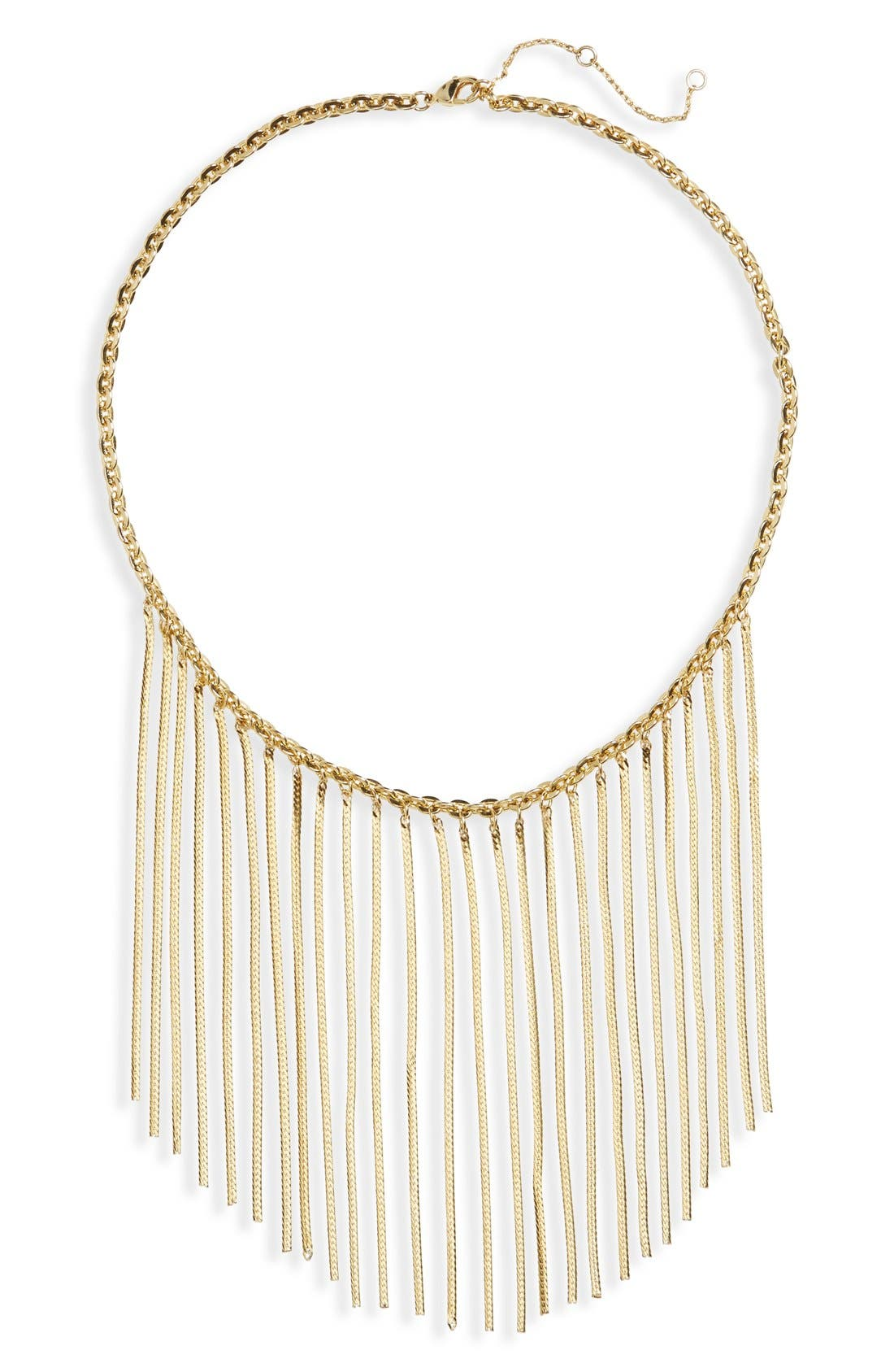 Main Image - Leith Chain Fringe Necklace