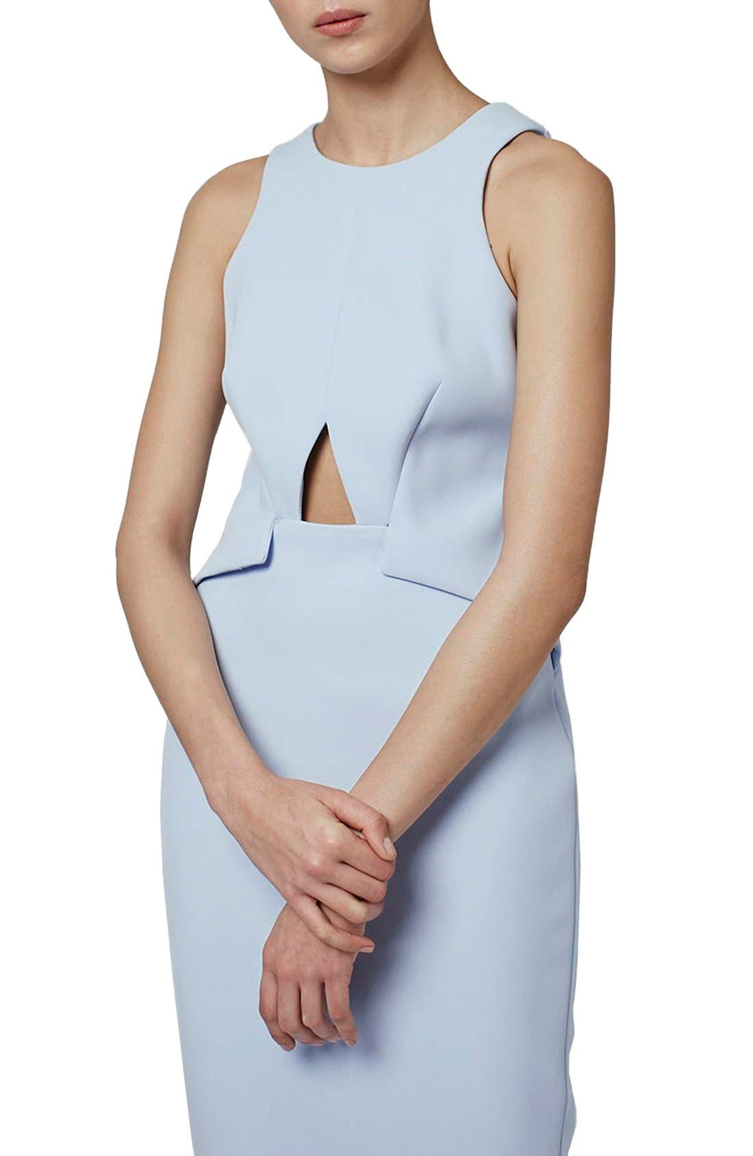 Alternate Image 4  - Topshop Cutout Midi Dress