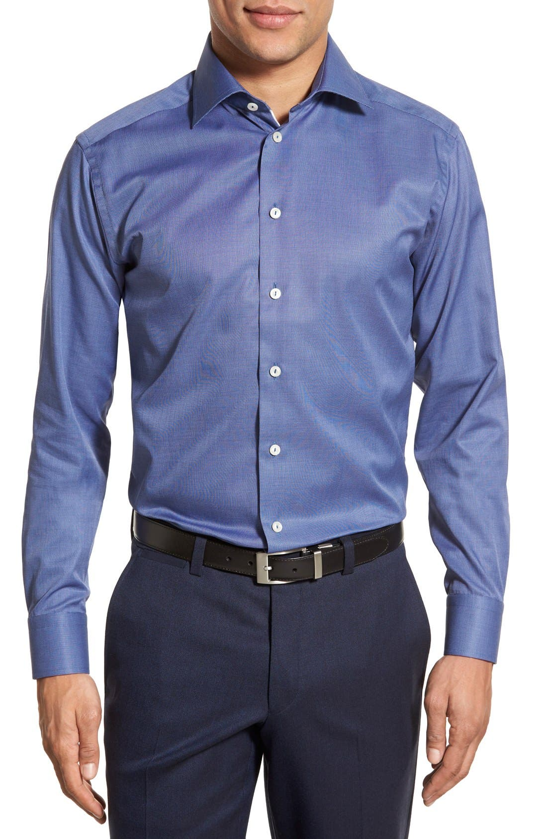 Alternate Image 2  - Eton Slim Fit Solid Dress Shirt