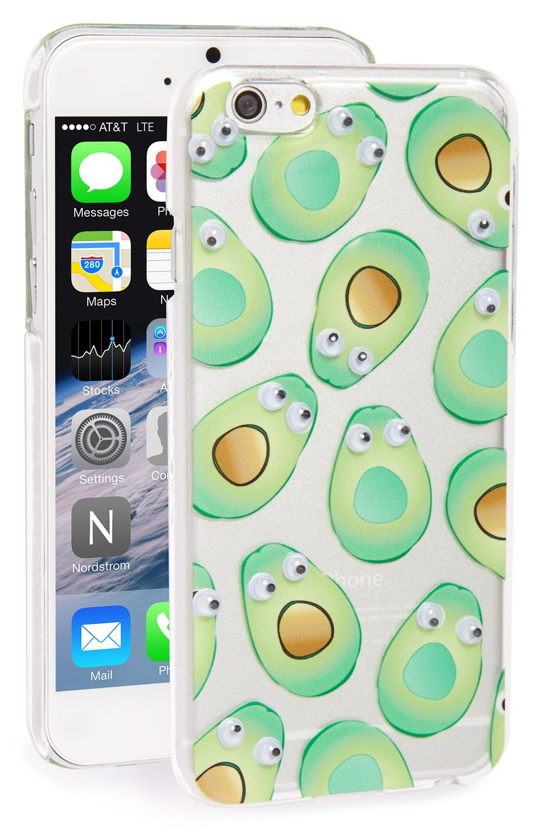 Alternate Image 1 Selected - Skinnydip 'Googly Avocado' iPhone 6 & 6s Case