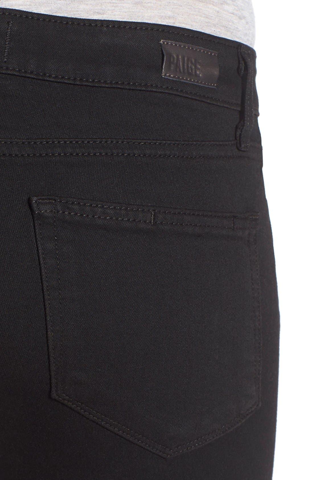 Alternate Image 4  - Paige Denim 'Transcend - Verdugo' Crop Skinny Jeans (Black Destructed)