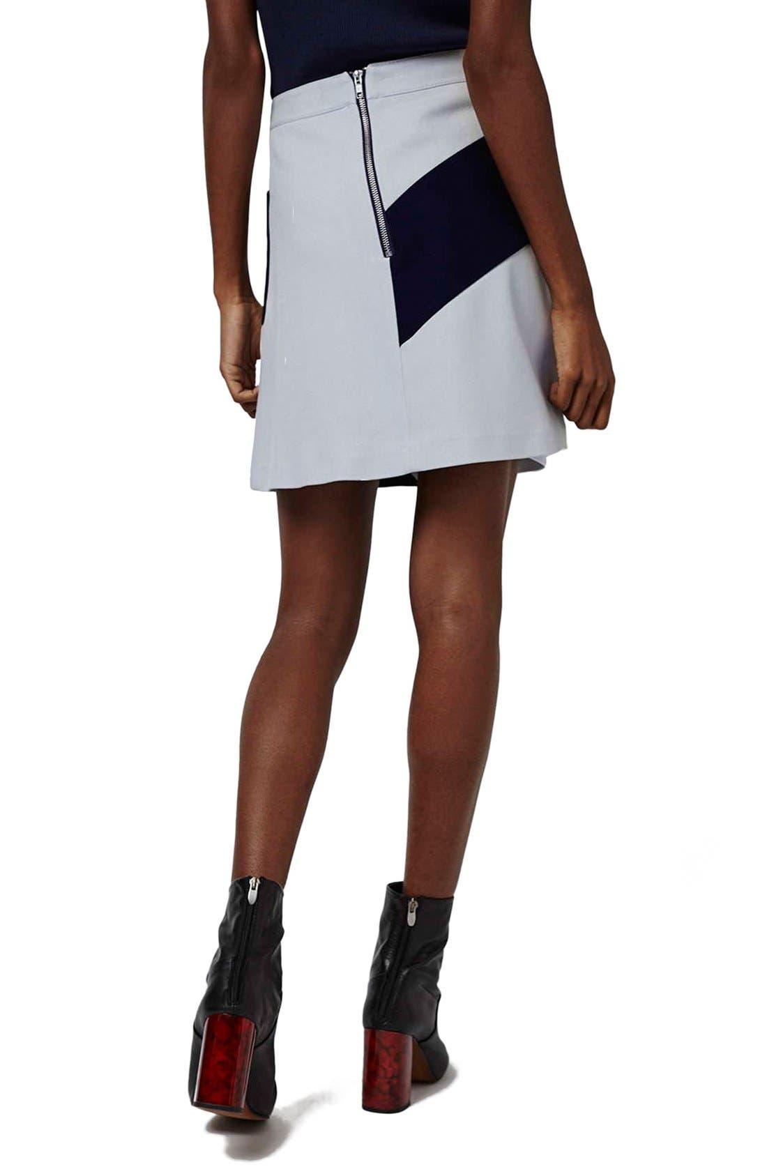 Alternate Image 3  - Topshop 'Mega' Panel Crepe A-Line Miniskirt
