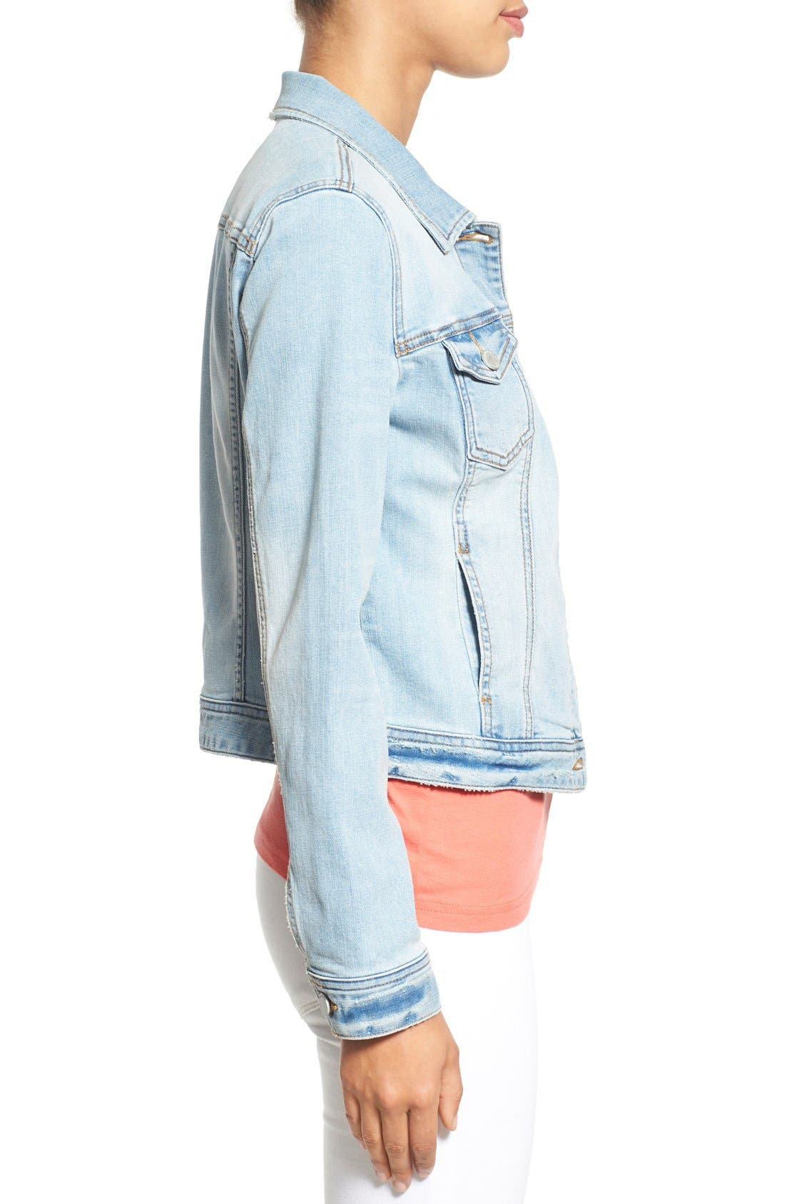 Alternate Image 3  - Caslon® Denim Jacket (Regular & Petite)