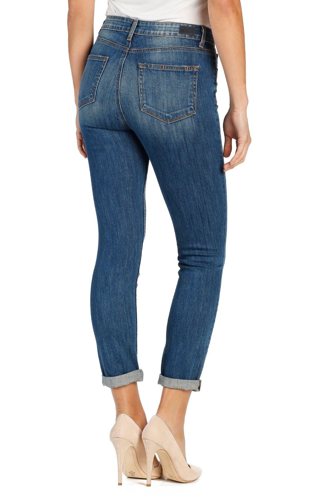 Alternate Image 2  - PAIGE 'Carter' High Rise Crop Slim Jeans (Tallulah)
