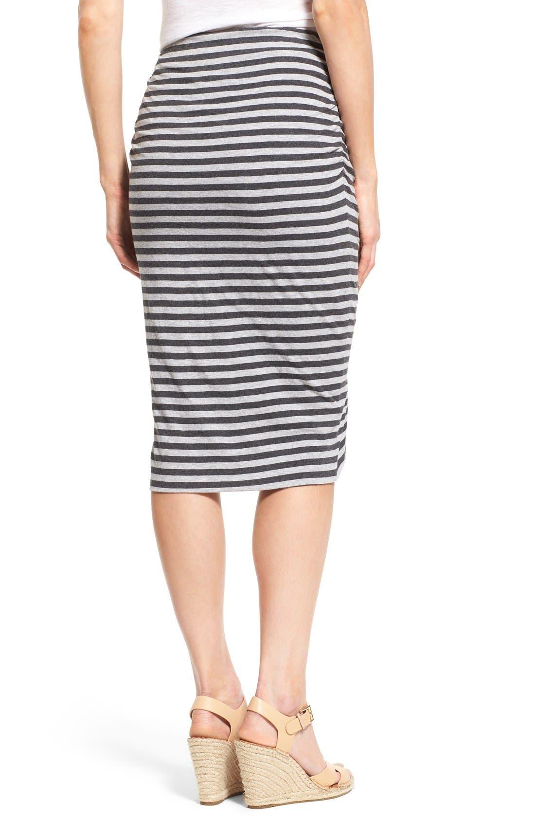 Alternate Image 2  - Caslon® Side Ruched Tube Skirt