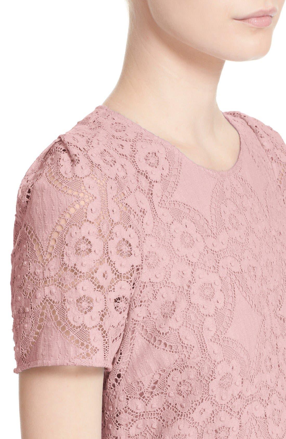 Alternate Image 5  - Burberry London 'Velma' Short Sleeve Lace Fit & Flare Dress