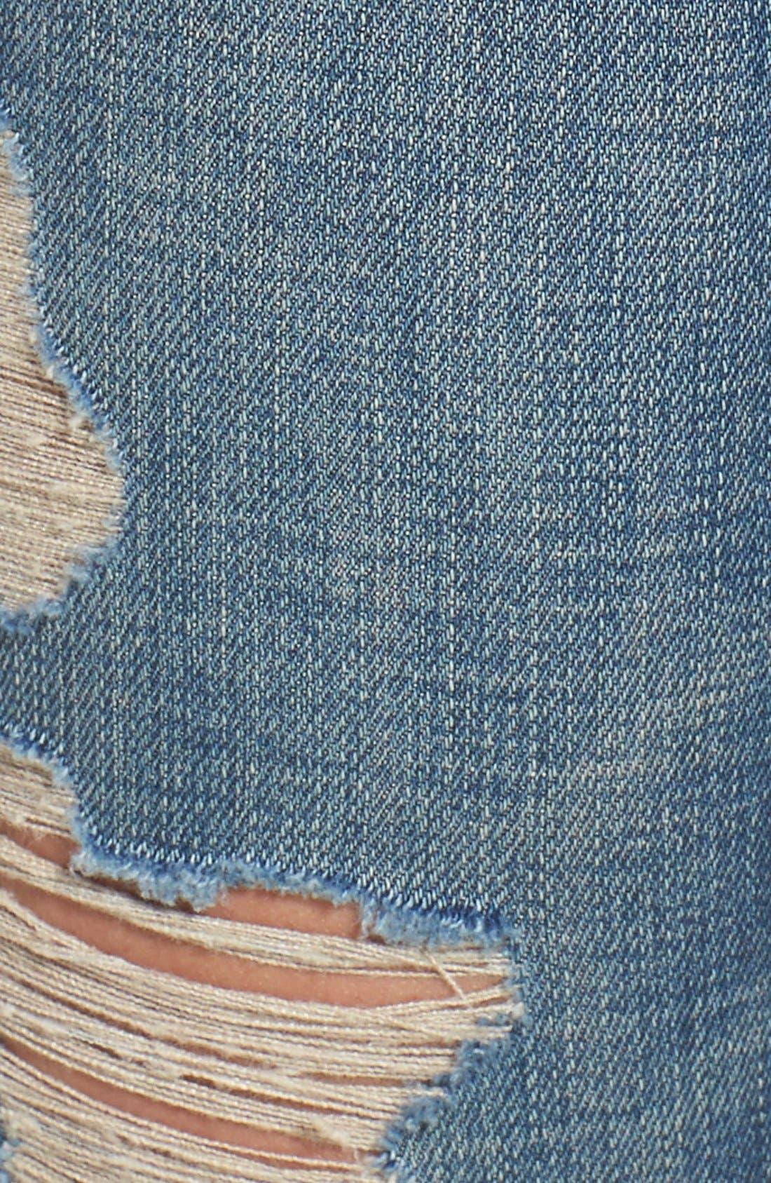 Alternate Image 5  - BLANKNYC Distressed Skinny Jeans