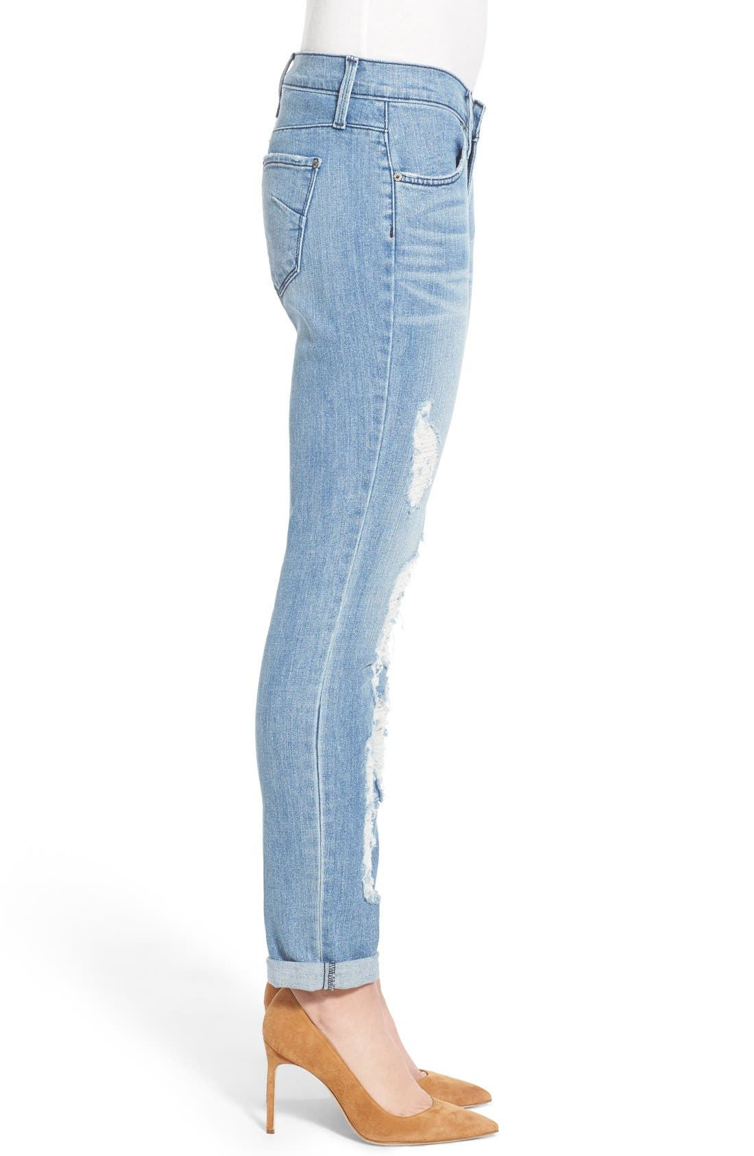 Alternate Image 3  - James Jeans Distressed Slim Boyfriend Jeans (Joy Ride)