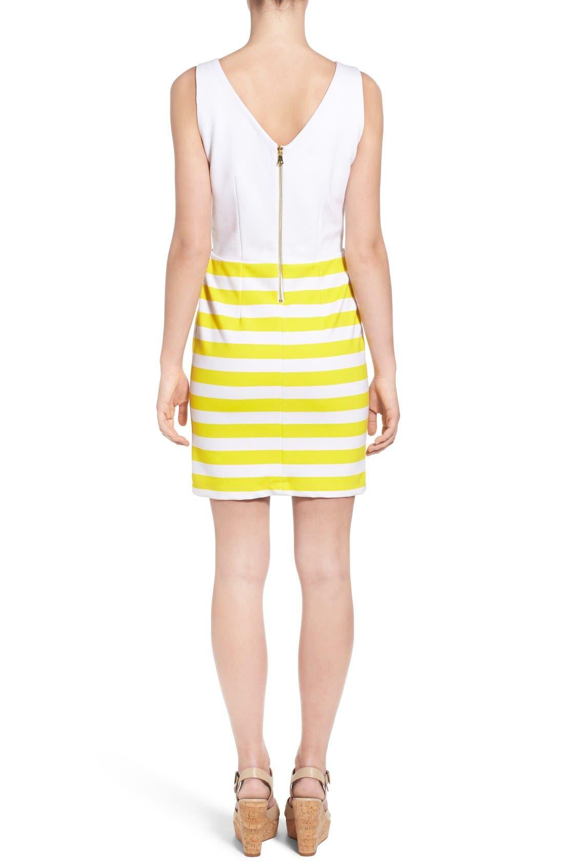 Alternate Image 2  - Amour Vert 'Amber' Stripe Cutout Body-Con Dress
