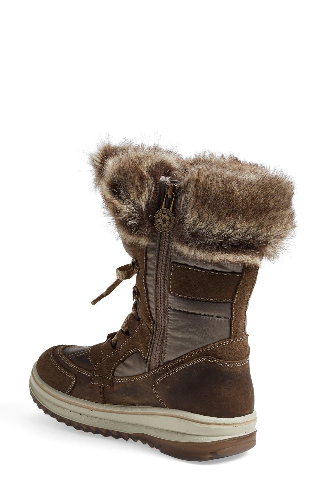 Alternate Image 2  - Santana Canada 'Marta' Water Resistant Insulated Winter Boot (Women)