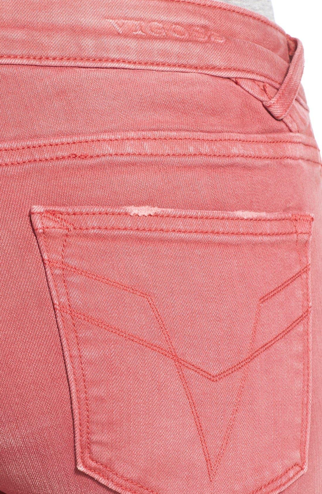 Alternate Image 4  - Vigoss 'Chelsea' Distressed Skinny Jeans