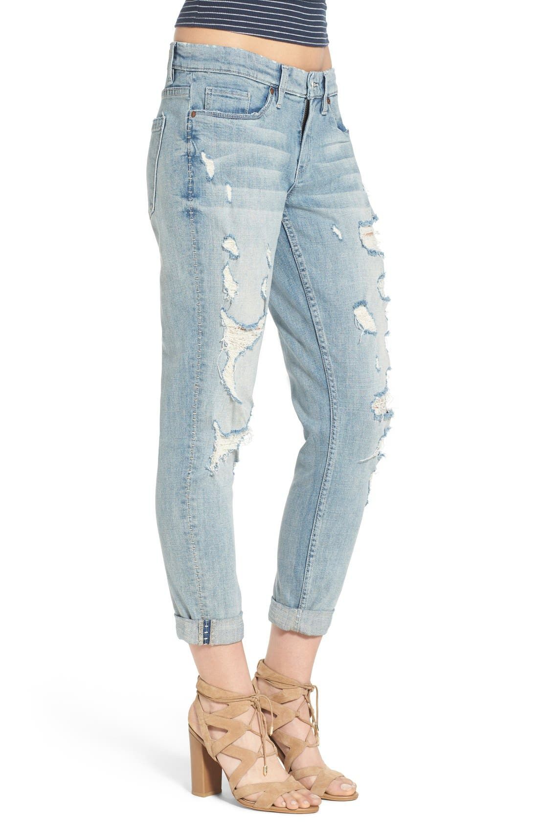 Alternate Image 3  - BLANKNYC Distressed Boyfriend Jeans (Never Say Never)